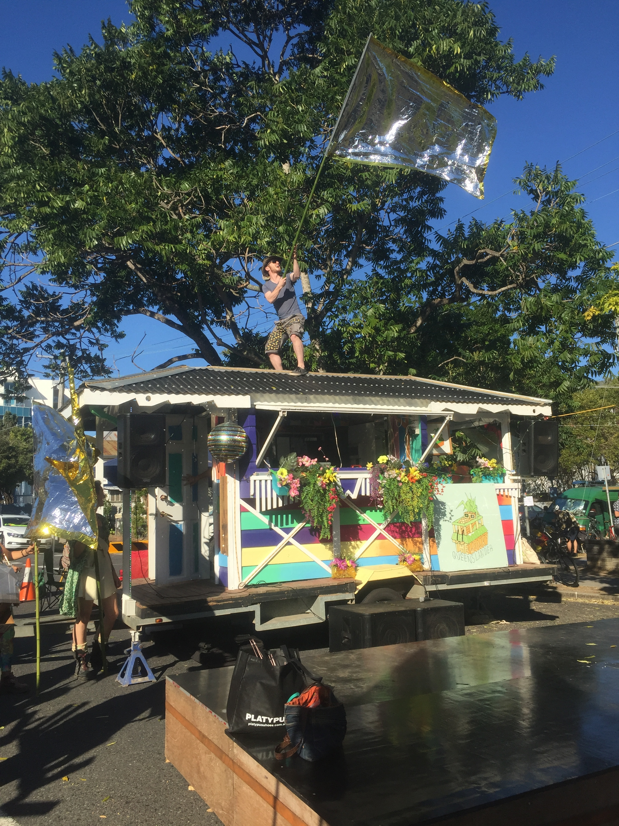 I eventually joined in the fun waving a gold flag atop the Wonky Queenslander - staking a claim for the weirdos…