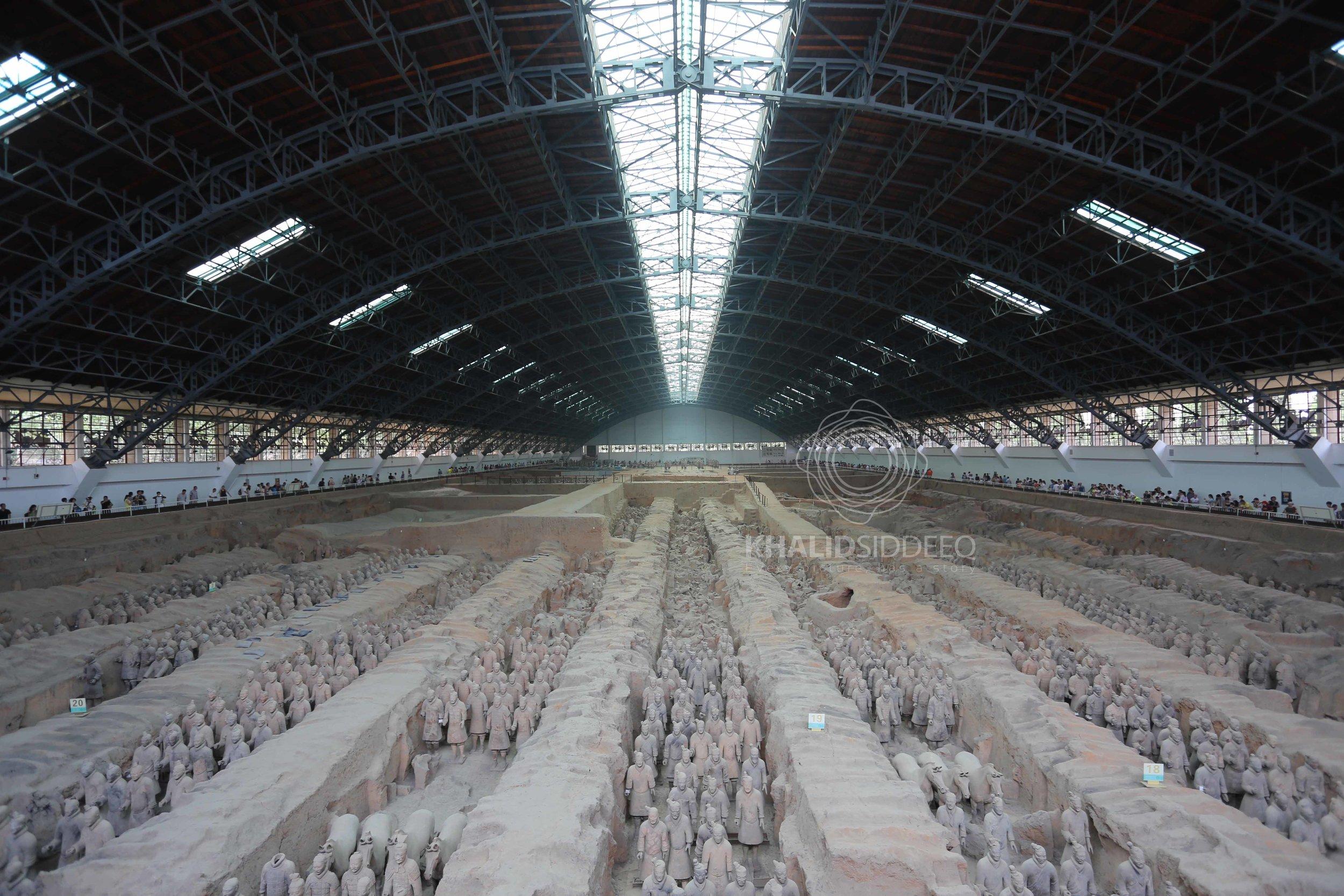 متحف جنود الطين كما يبدو من الأعلى