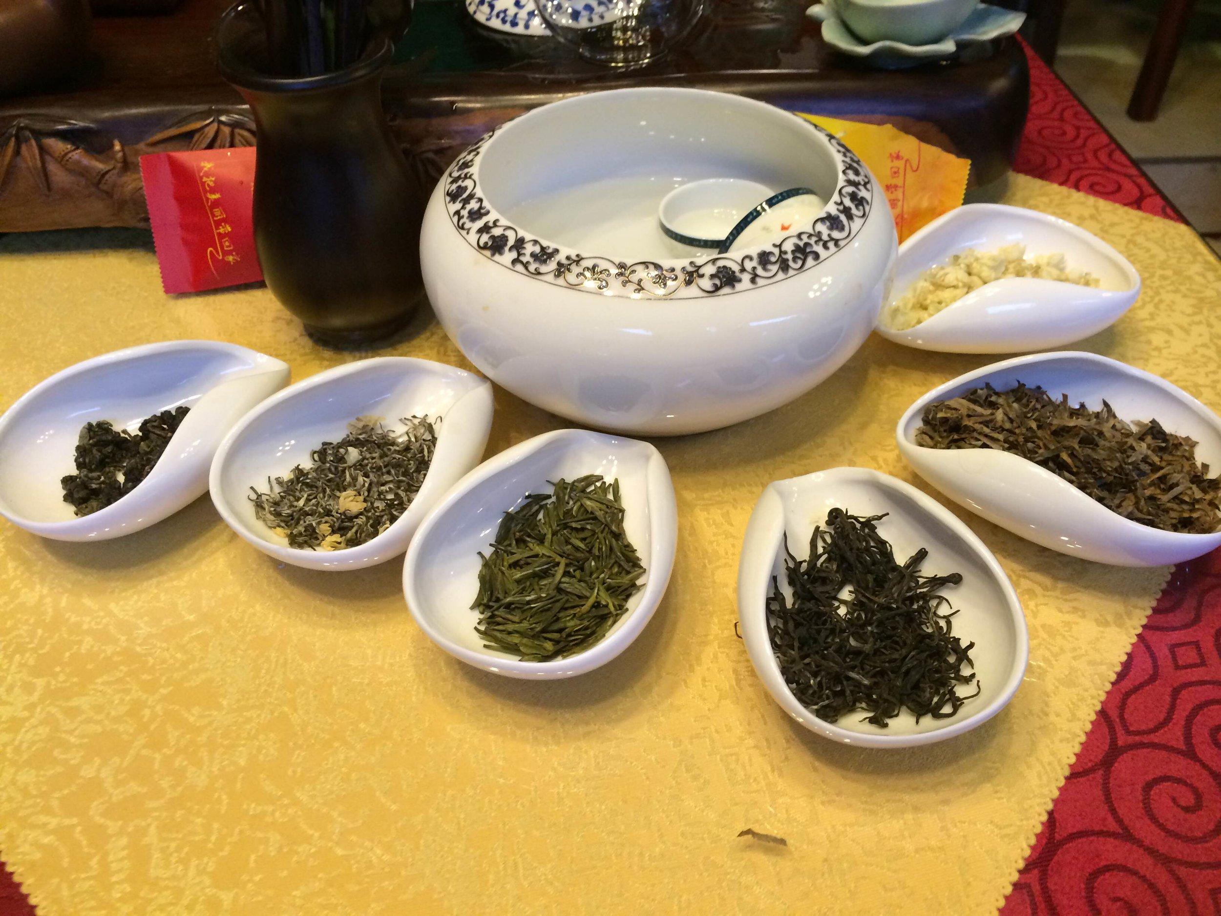 أنواع الشاي والتي اتيحت لي فرصة تجربتها