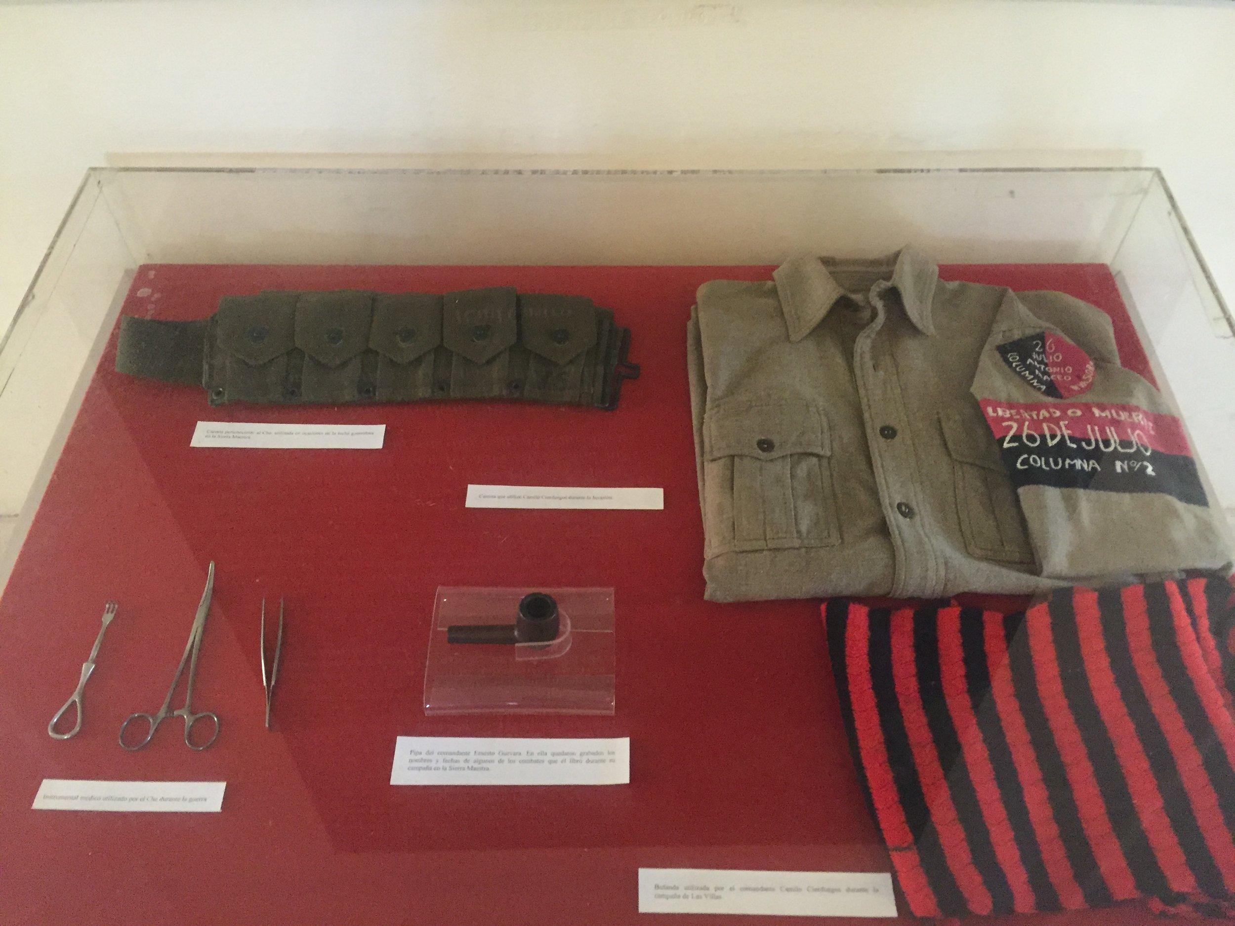 ملابس تش جيفارا من متحف الثورة