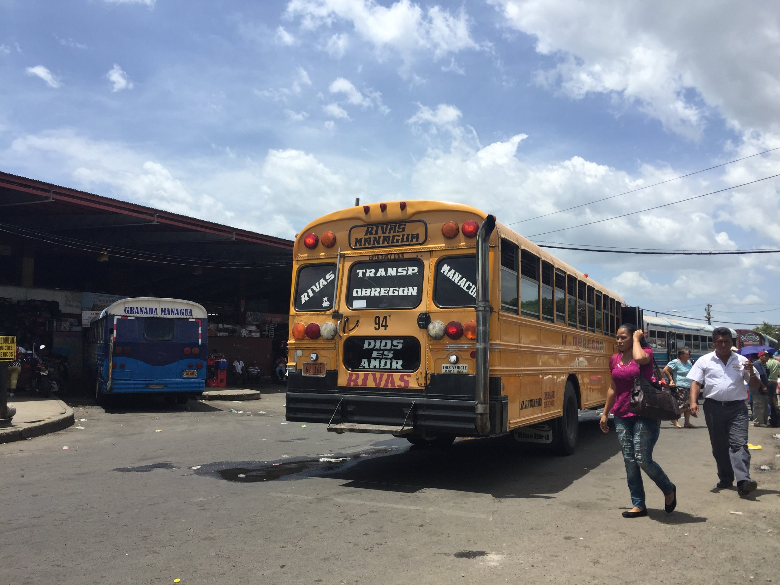 محطة الباصات في مناغوا