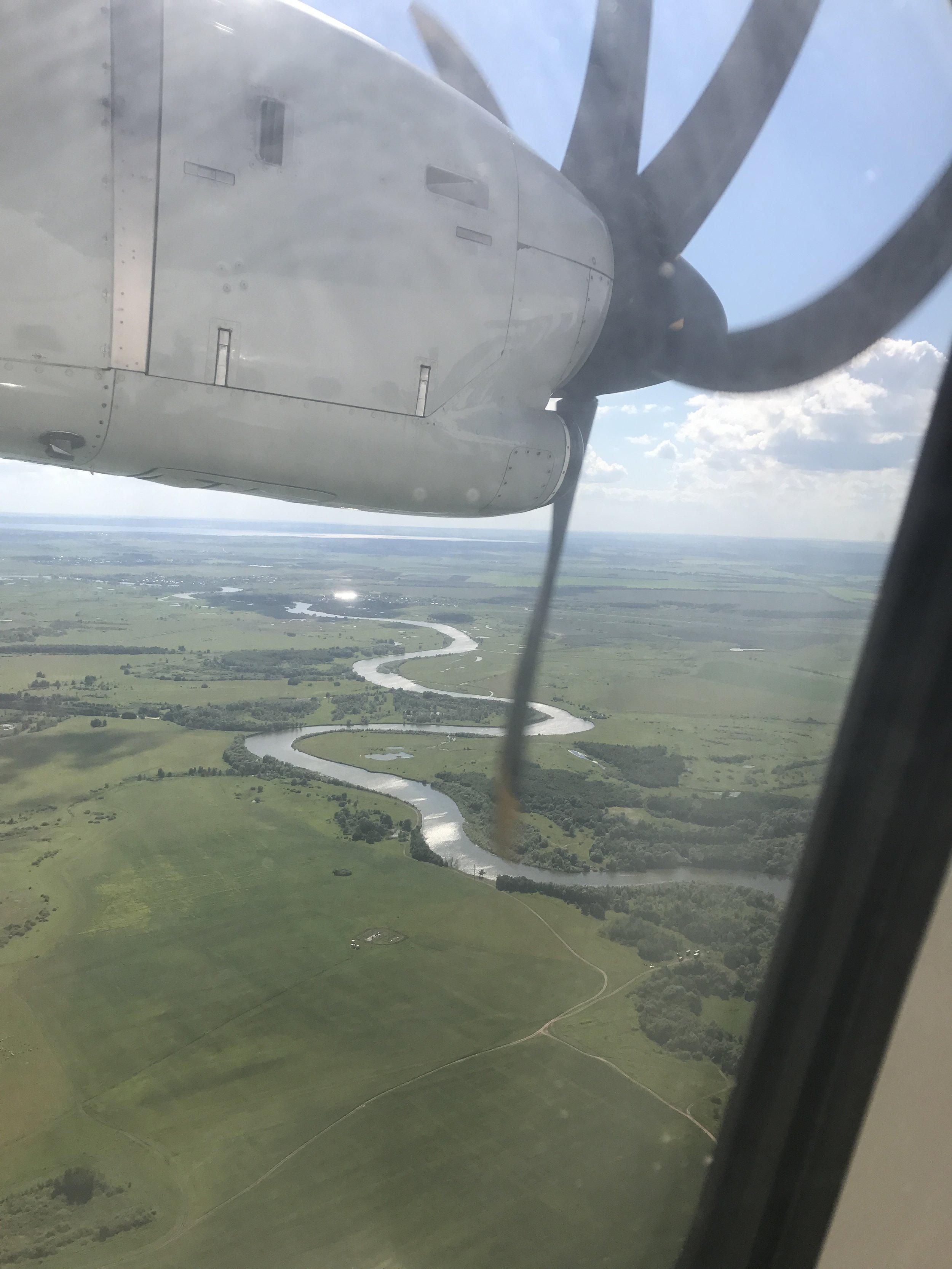 الطائرة التي أقلتني من أوفا إلى كازان كانت ذو محركات خارجية