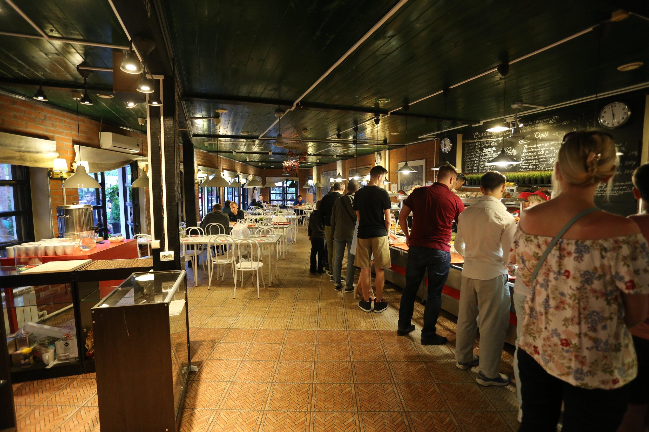 المطعم التابع لبيوت الشباب