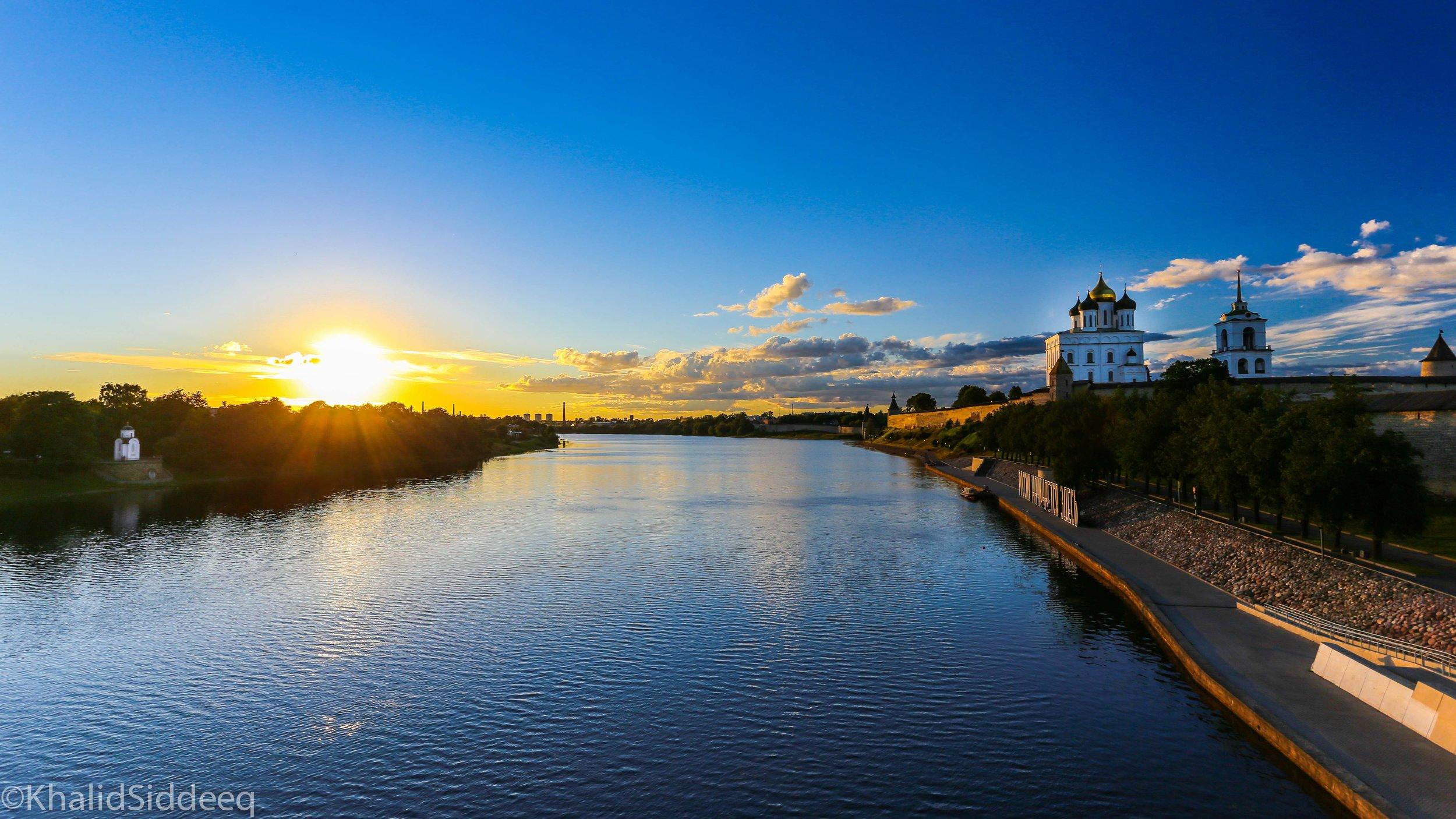 نهر فيليكايا، بسكوف، روسيا