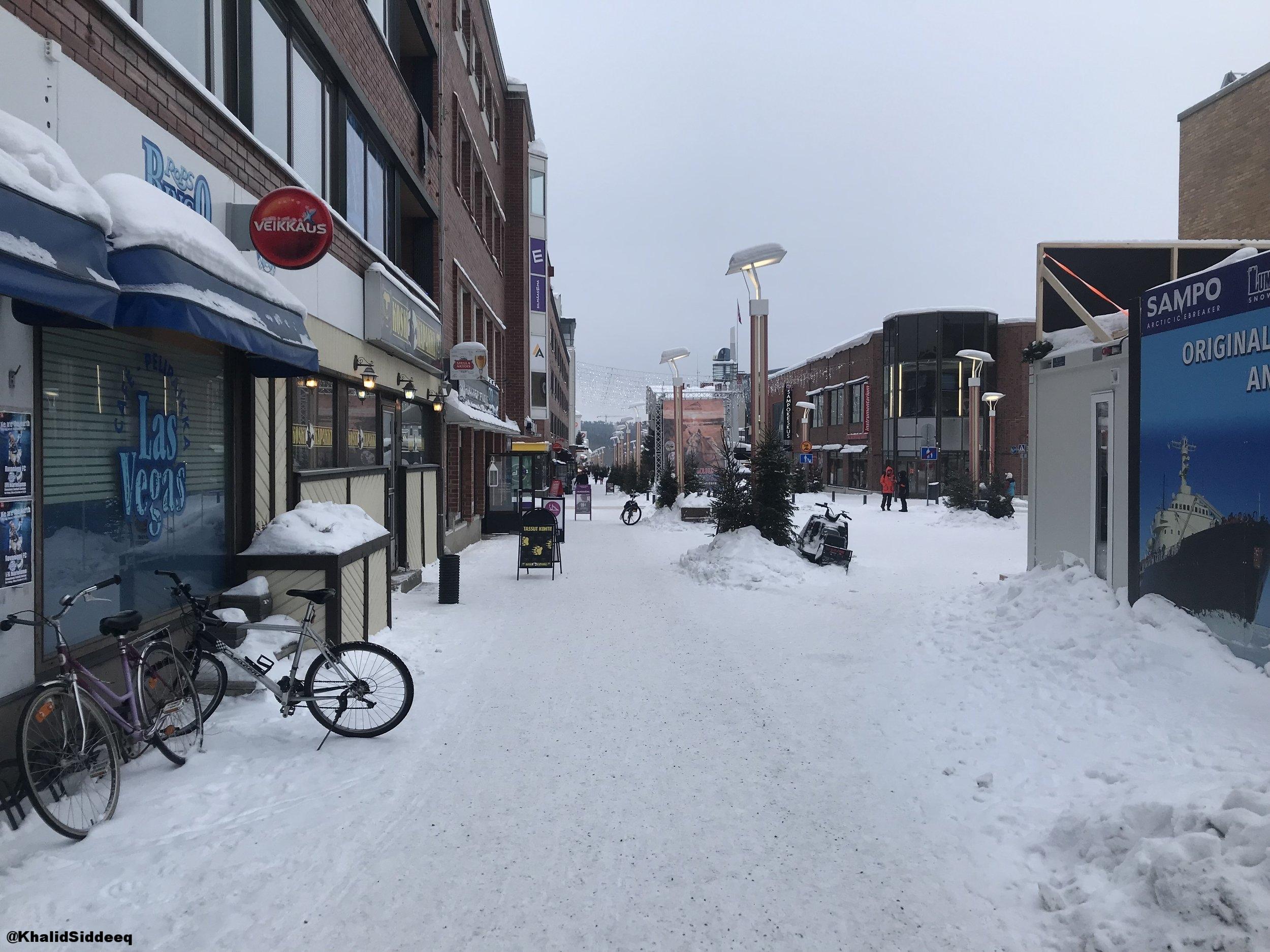 أحد ممرات المدينة