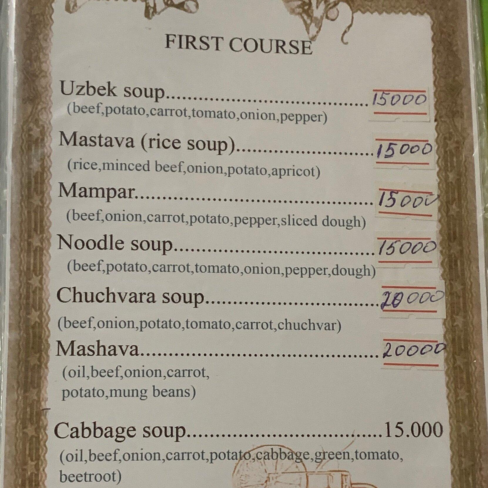 زيادة زيادة الأسعار كما تبدو بشكل واضح على قائمة الطعام
