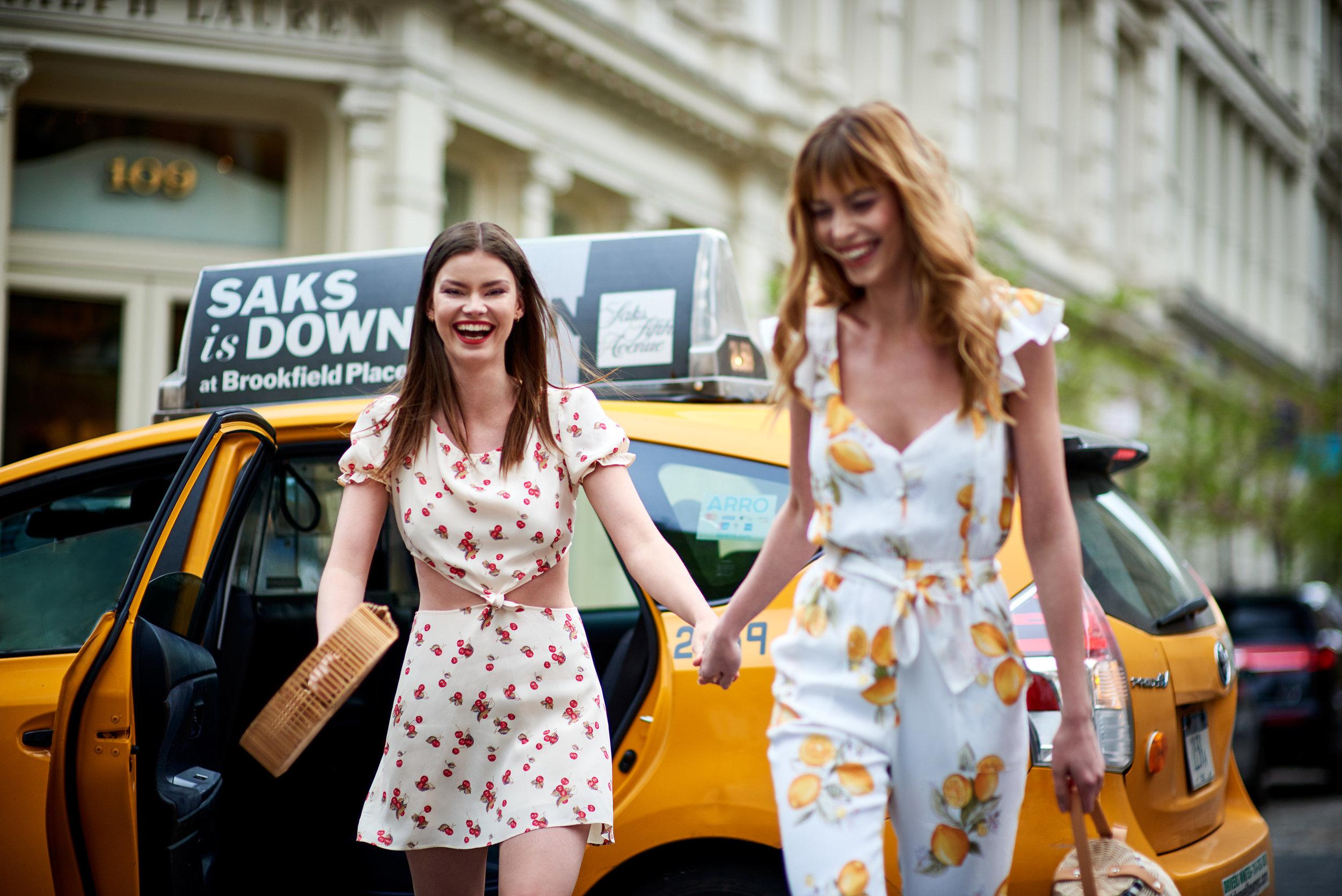 Cherry Waist Cut Out Dress - Creme & Limonada Onesie