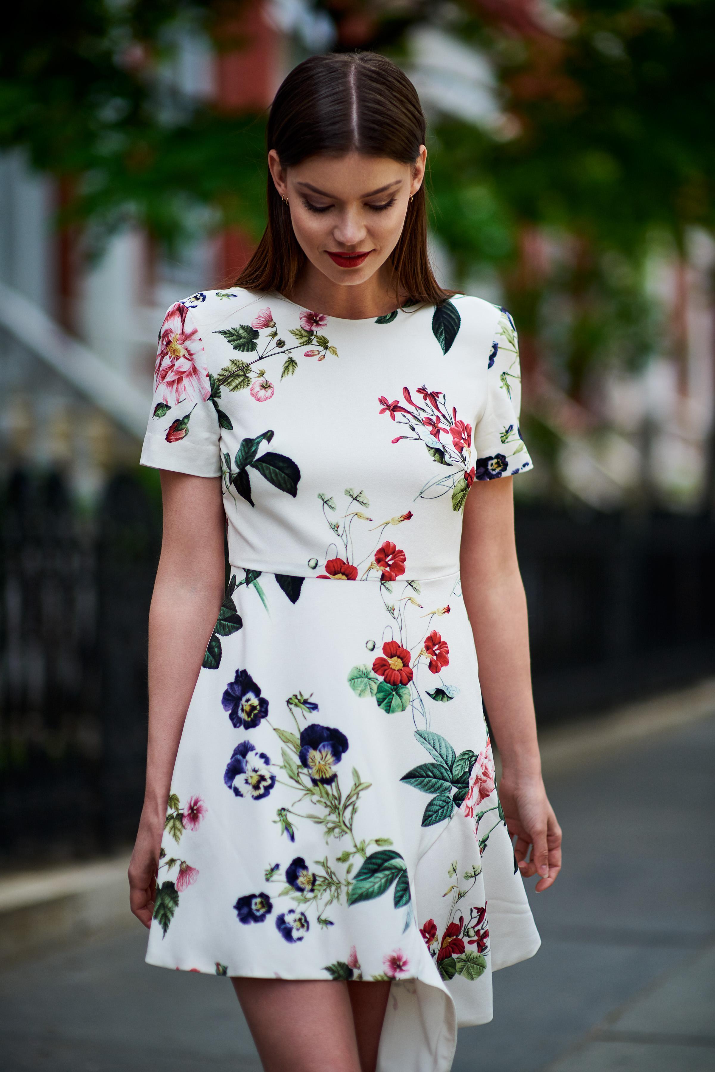 Angeles Floral A-Line Dress