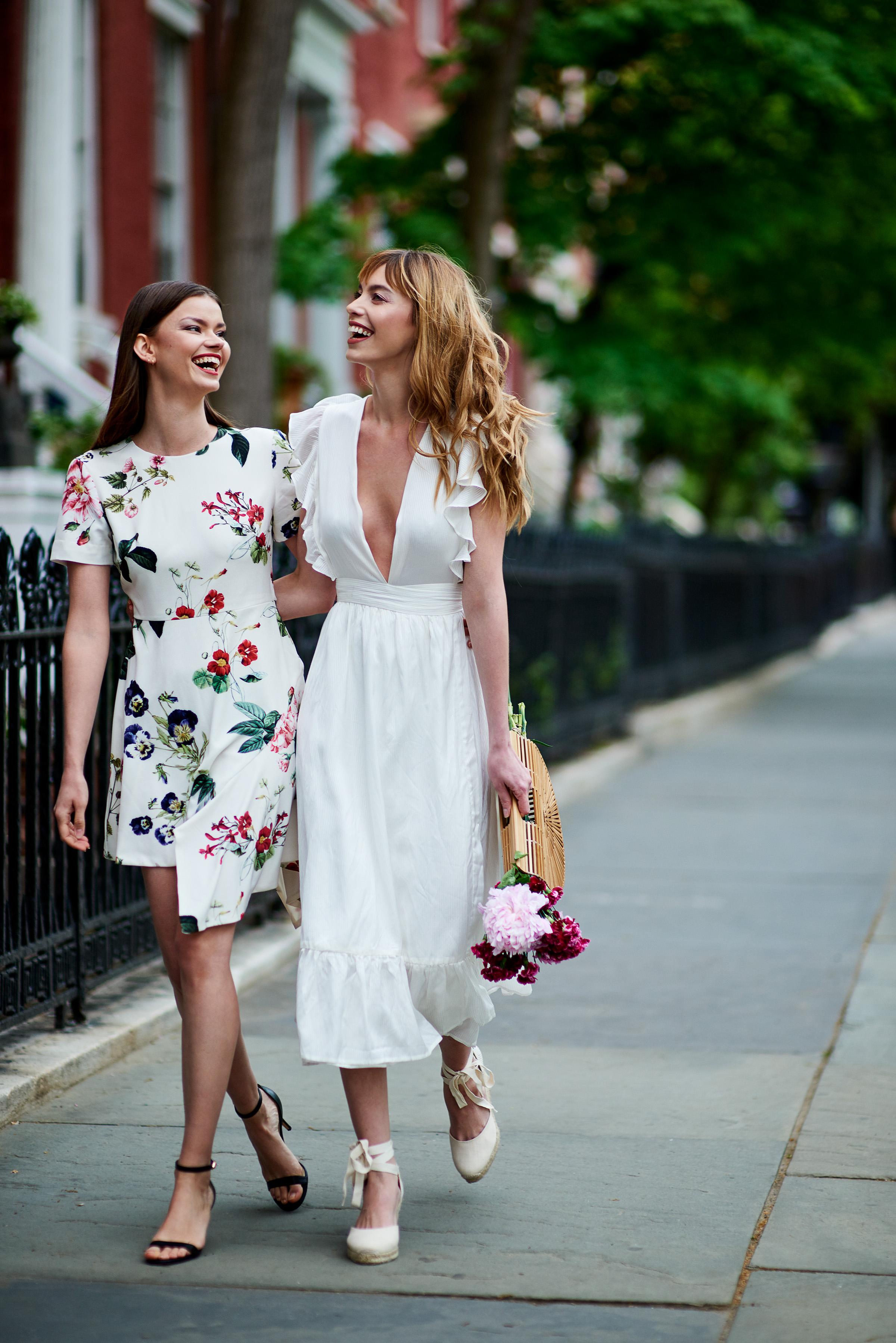Angeles Floral A-Line Dress & Mistwood Reversible Wrap Maxi Dress