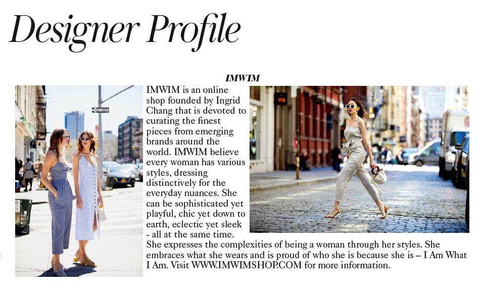 IMWIM British Vogue Sept Issue Designer Profile