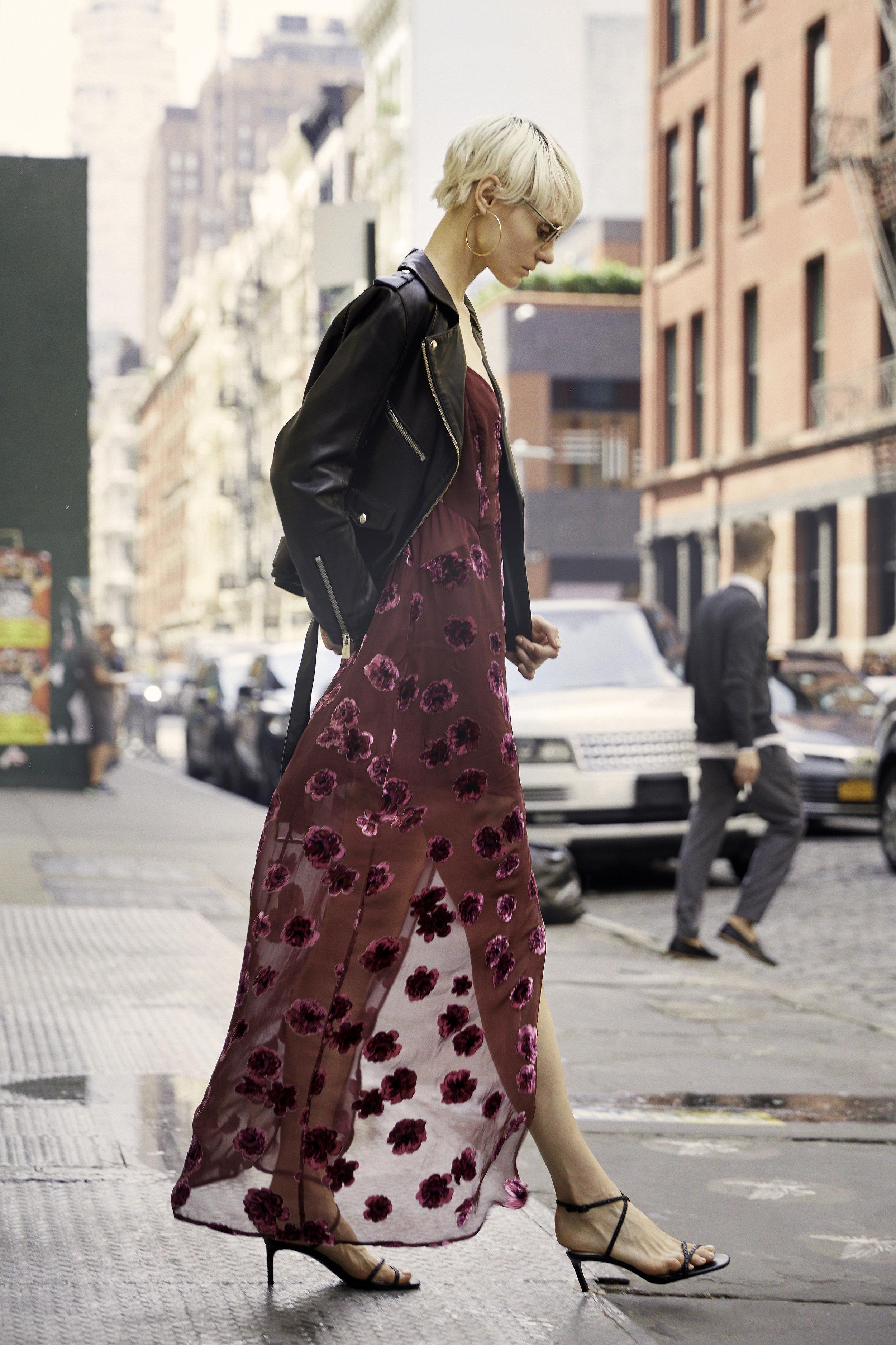 Sophie Velvet Floral Maxi Dress