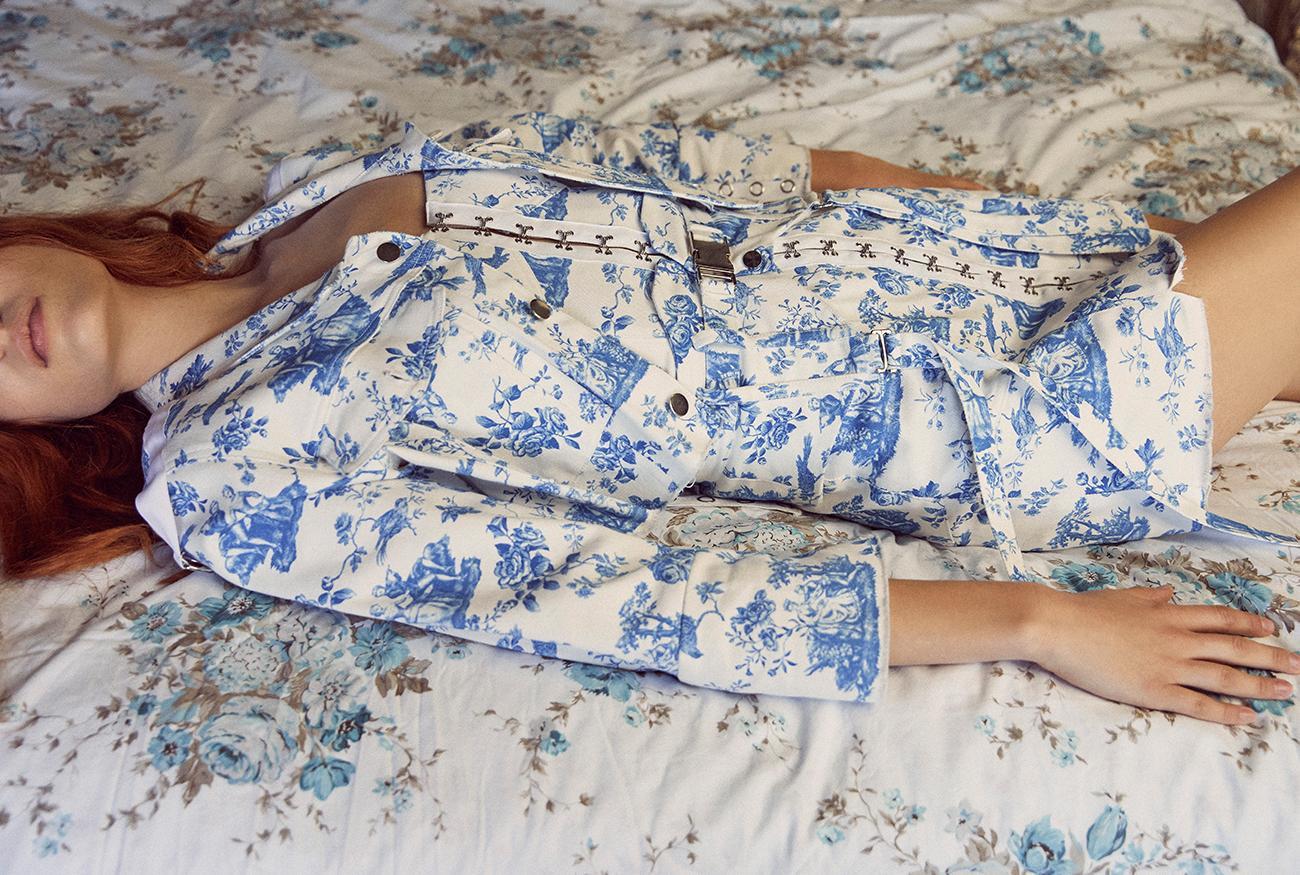 For Love & Lemons Monika Hook Front Mini Dress