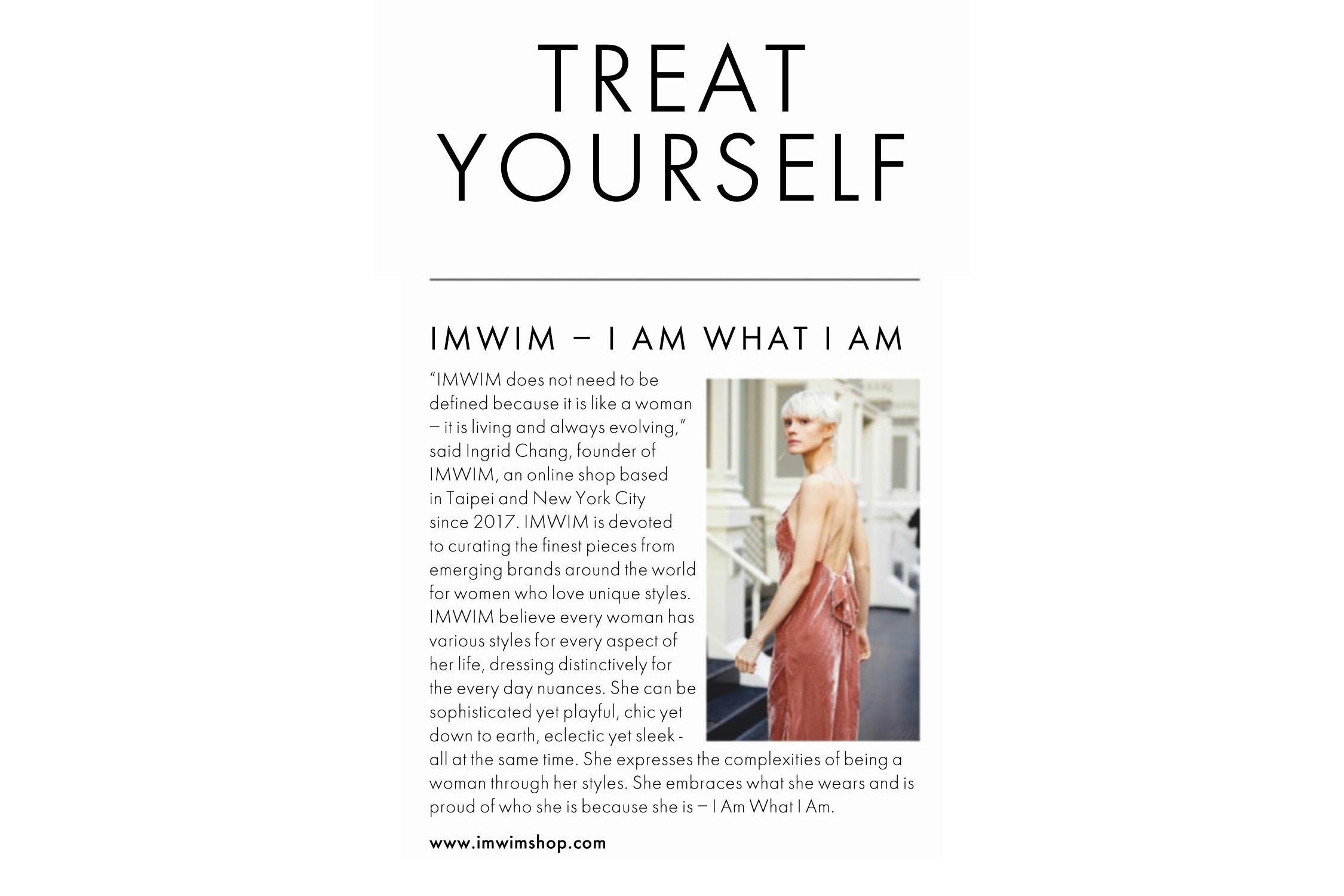 IMWIM ELLE UK Jan Issue Treat Yourself
