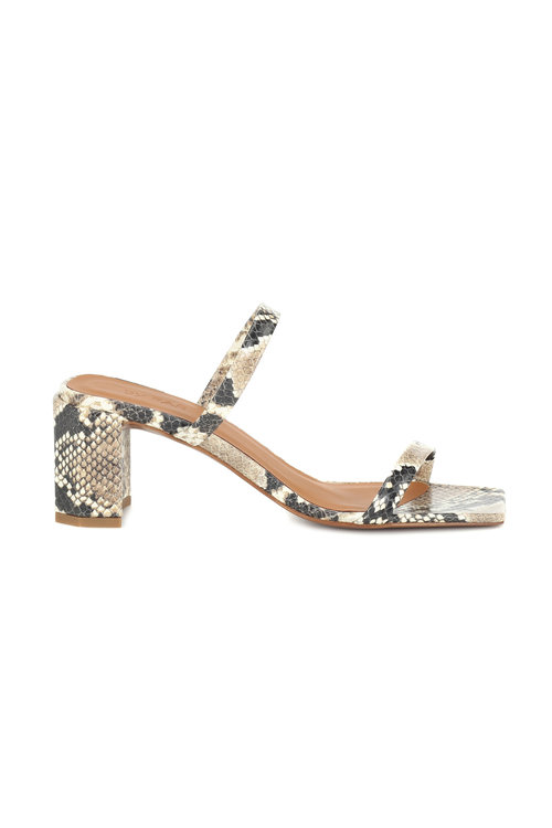 fc26787ca5 Tanya Snake Print Leather Mid-Heeled Sandals — IMWIM