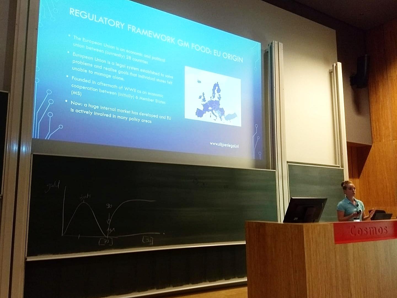 Slijpen Legal spreker op Science Honours Academy Symposium over  genetisch gemodificeerde organismen  (GMO's).