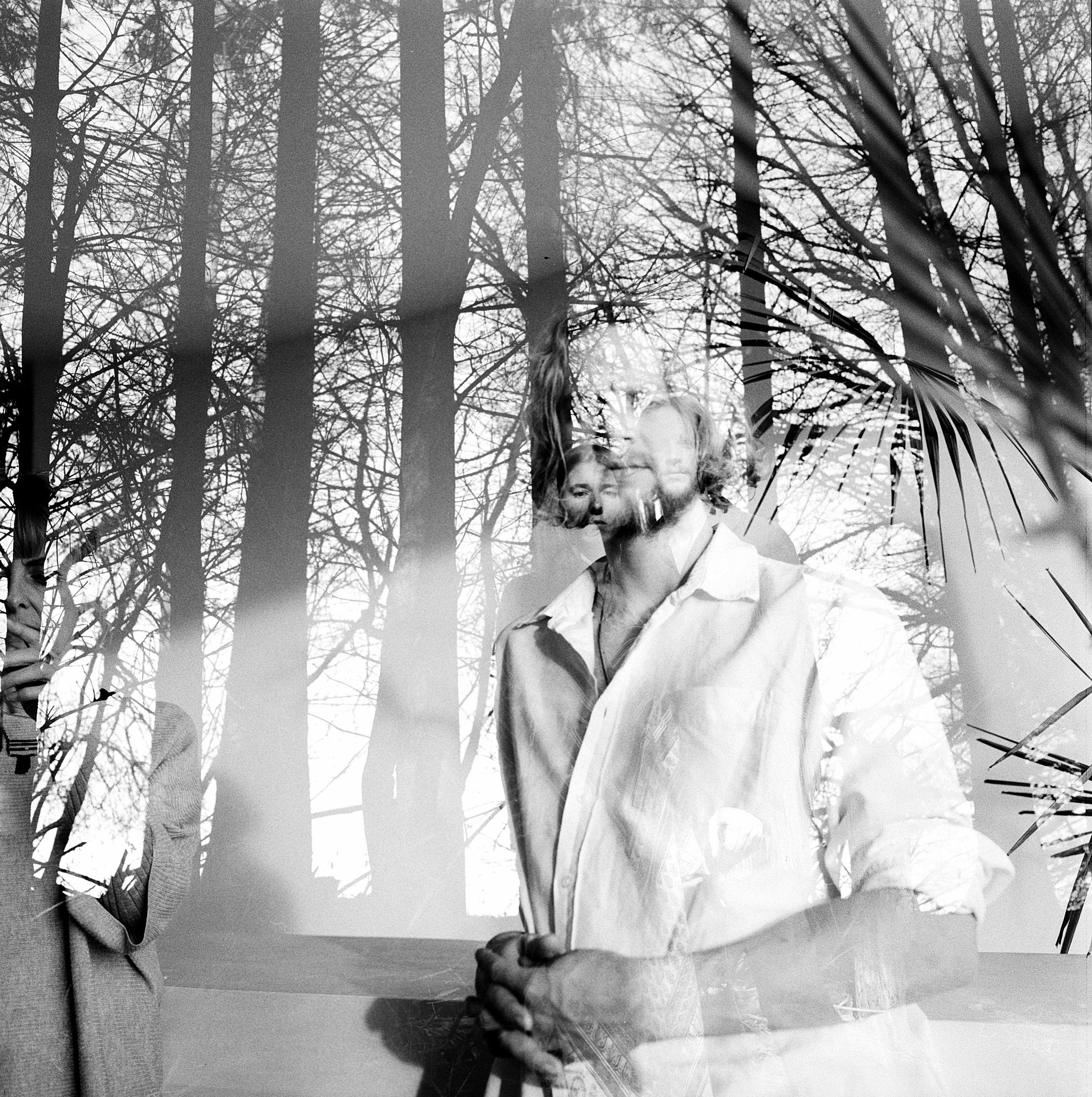 Samana, Samana Music, Samana Photography, Double Exposed Film, Rebecca Rose Harris, Black and white