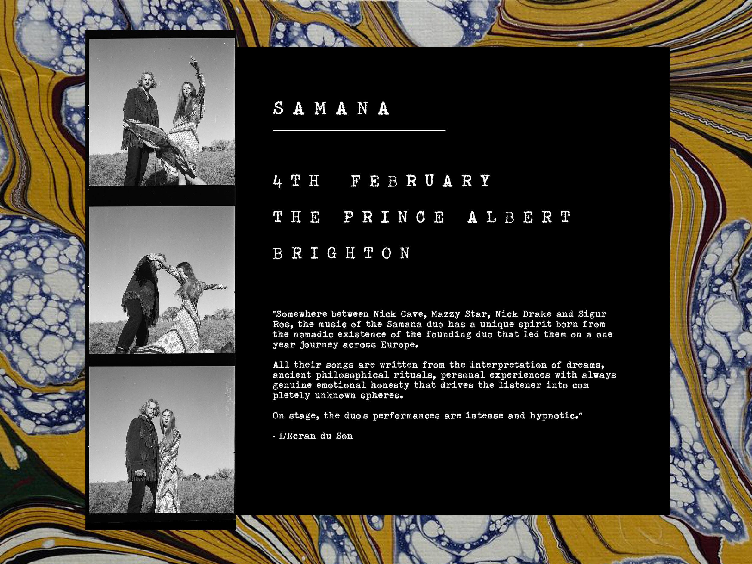 Samana Brighton gig