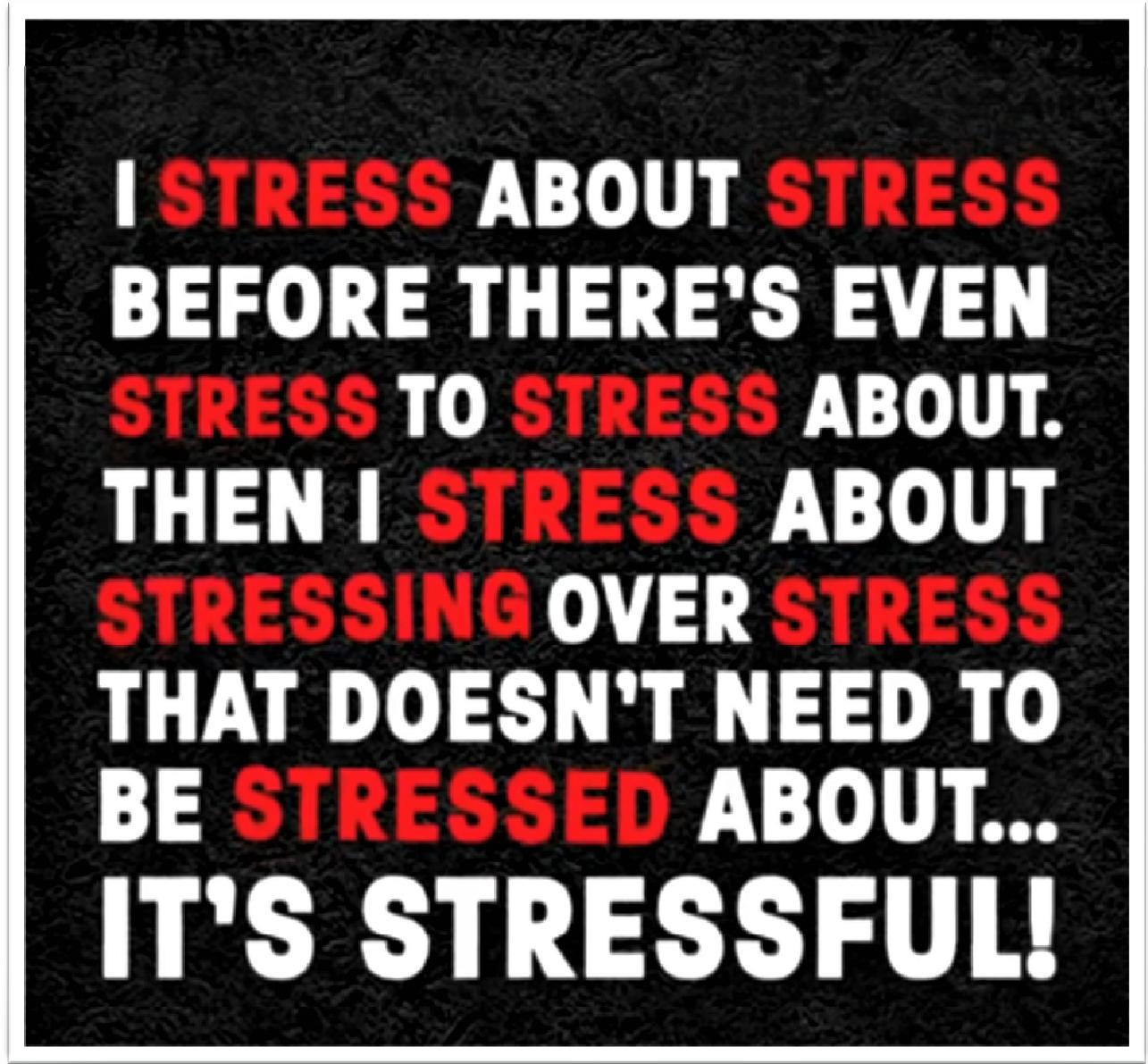 ....    Wenn das stimmt, dann haben wir wirklich ein Problem. Das würde ja heissen, wir könnten ein viel schöneres Leben führen, als wir es tatsächlich tun ! Wir lassen uns viel zu schnell stressen. Das darf nicht sein ! Das müssen wir uns anschauen.    ..    If that is true, we really have a problem. Just imagine, our lives could be so much easier! We get stressed much too easily. Life needn't be so troublesome! Shall we take a look at it?   ....