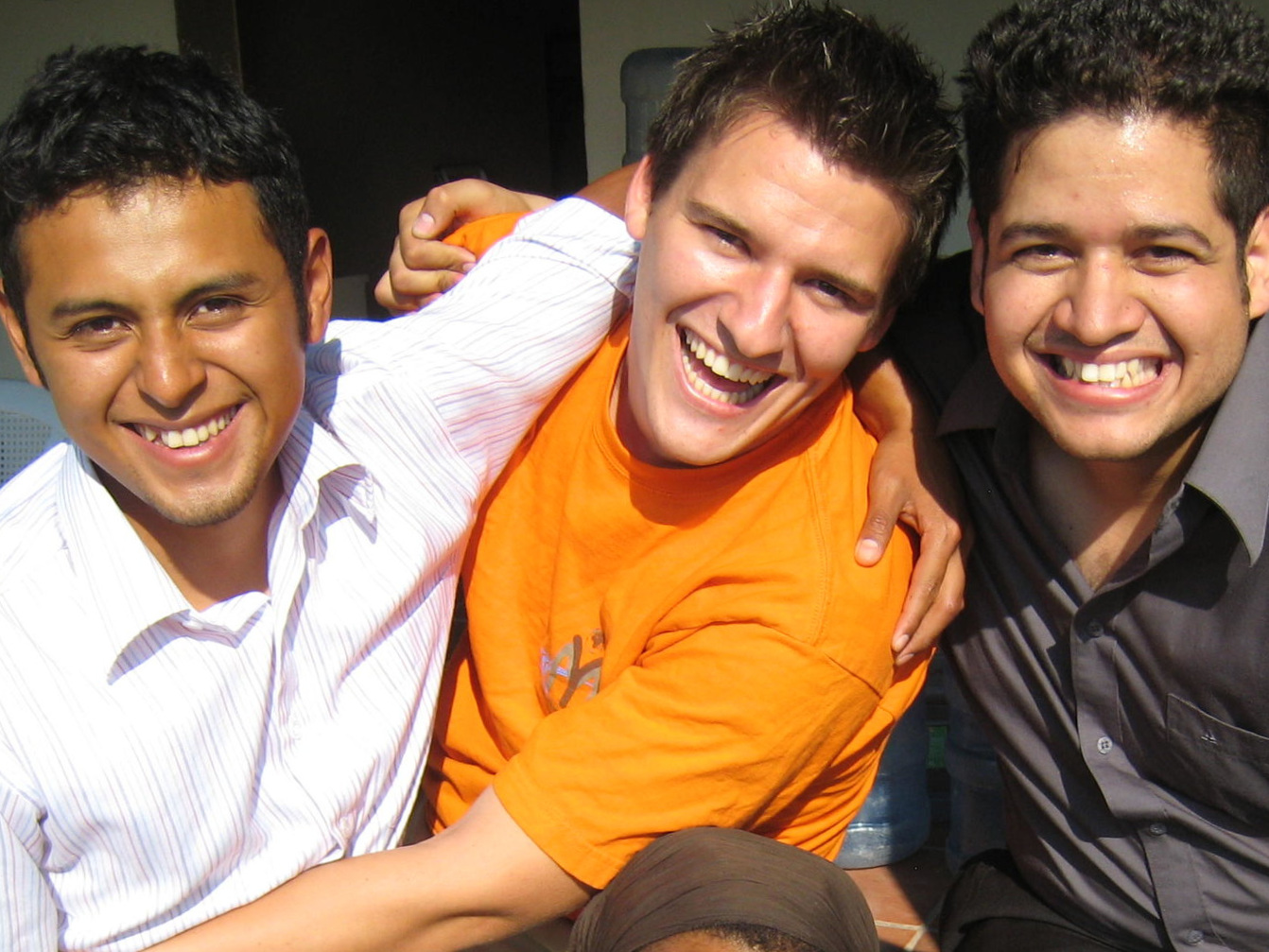 ....   Vlnr: Drei Pioniere von VIDA - Eli, Jesse und José   ..   Left to right: Three pioneers of VIDA - Eli, Jesse and Jose   ....