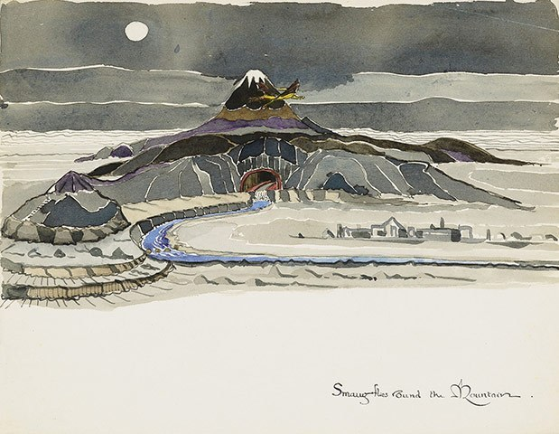 One of J.R.R. Tolkien's original sketches for  The Hobbit.