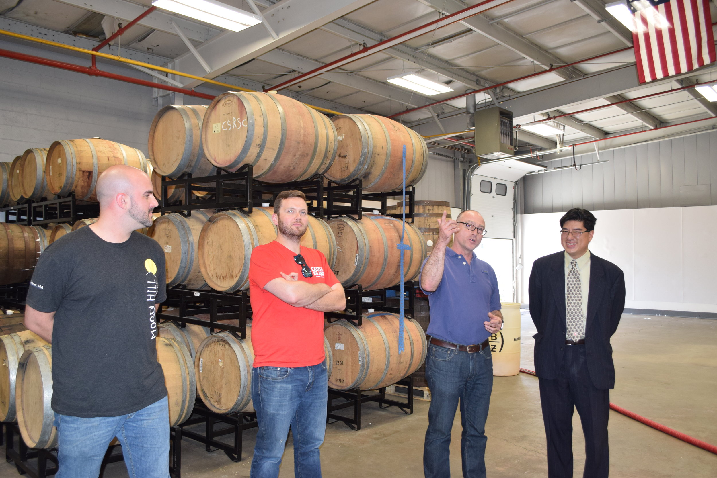 Ryan Daigle, MBG Board members and head brewer at Moon Hill, Adam Romanow, co-founder of Castle Island, Russ Heissner, founder of Barrel House Z and Chair Tackey Chan talk about the booming craft beer industry in Massachusetts.