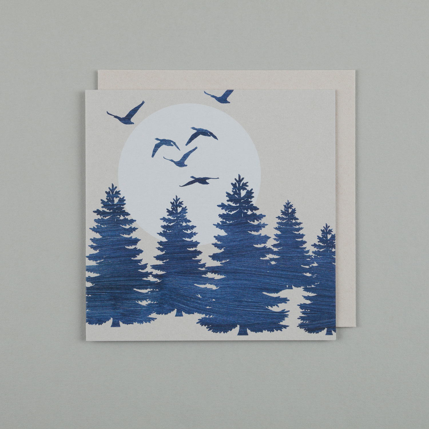 BLUE MOON TREES & GEESE