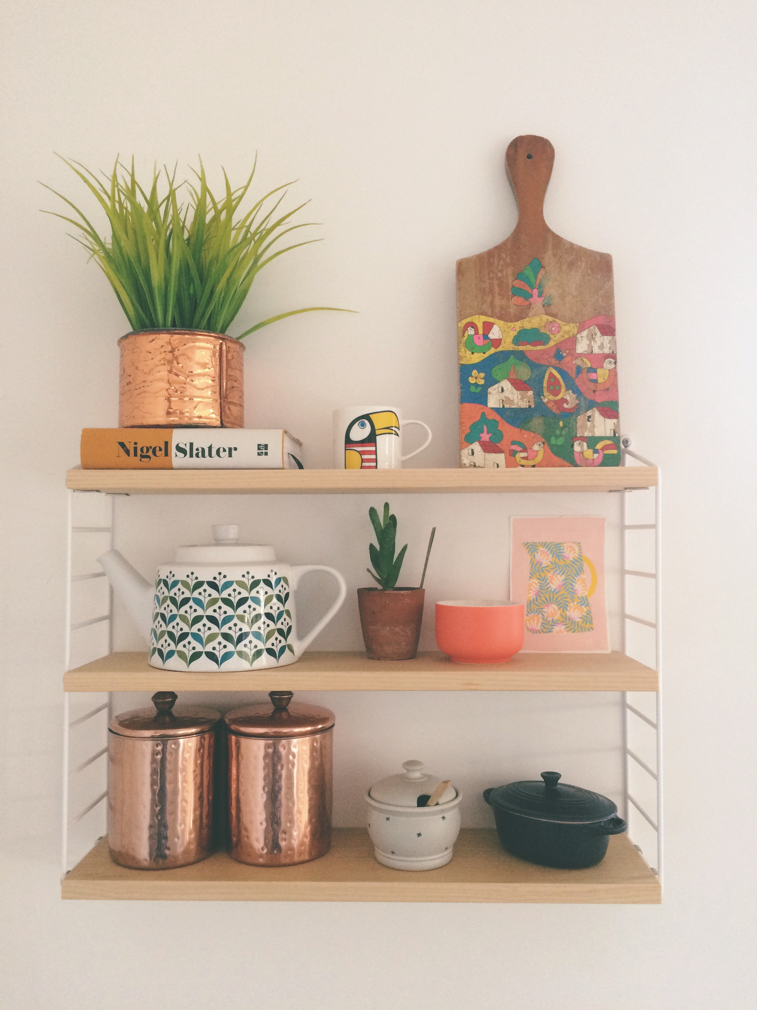 The iconic Scandinavian String Pocket Shelf. This takes pride of place in our kitchen and is as practical as it is beautiful.