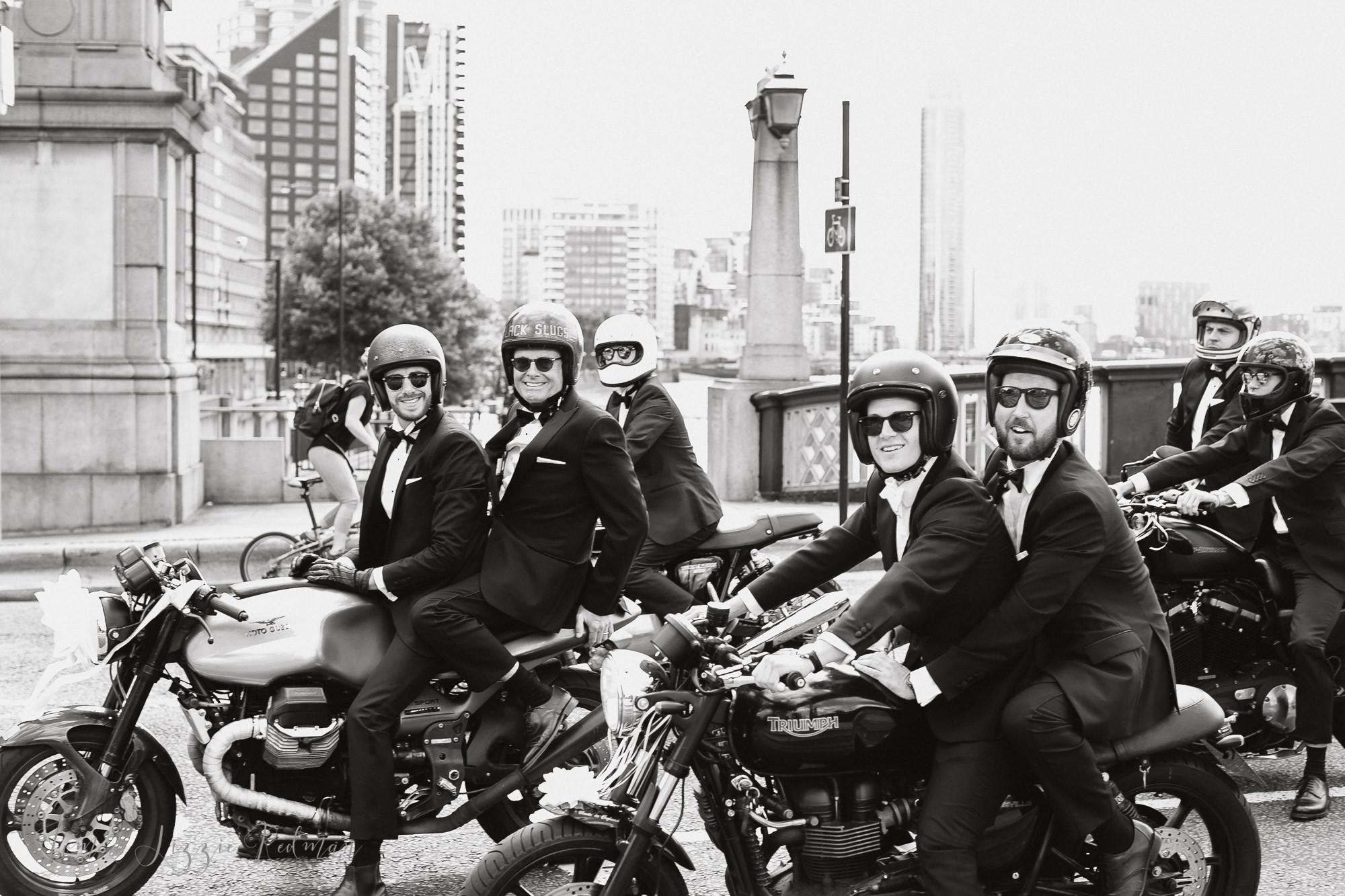 Moto Guzzi wedding photos