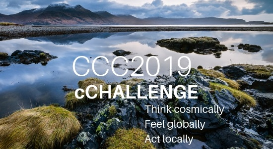 "CCC2019 cCHALLENGE   Community members at the Findhorn Foundation in Scotland explore shifting the focus of conversations from ""climate change"" to ""conscious change"" through individual and collective transformation."