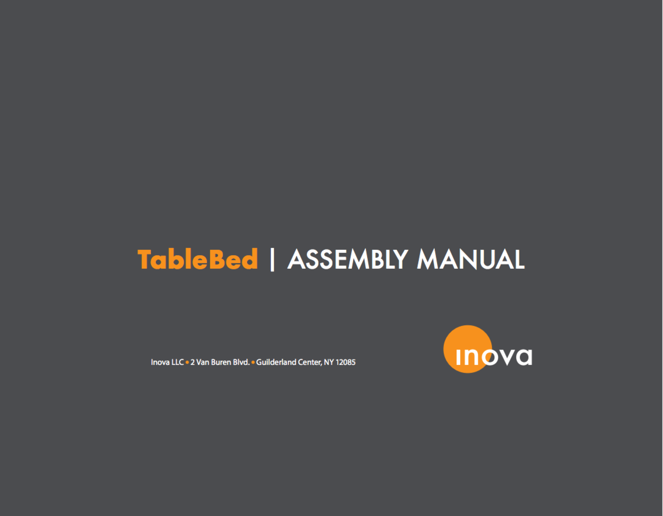TableBed Assembly Manual