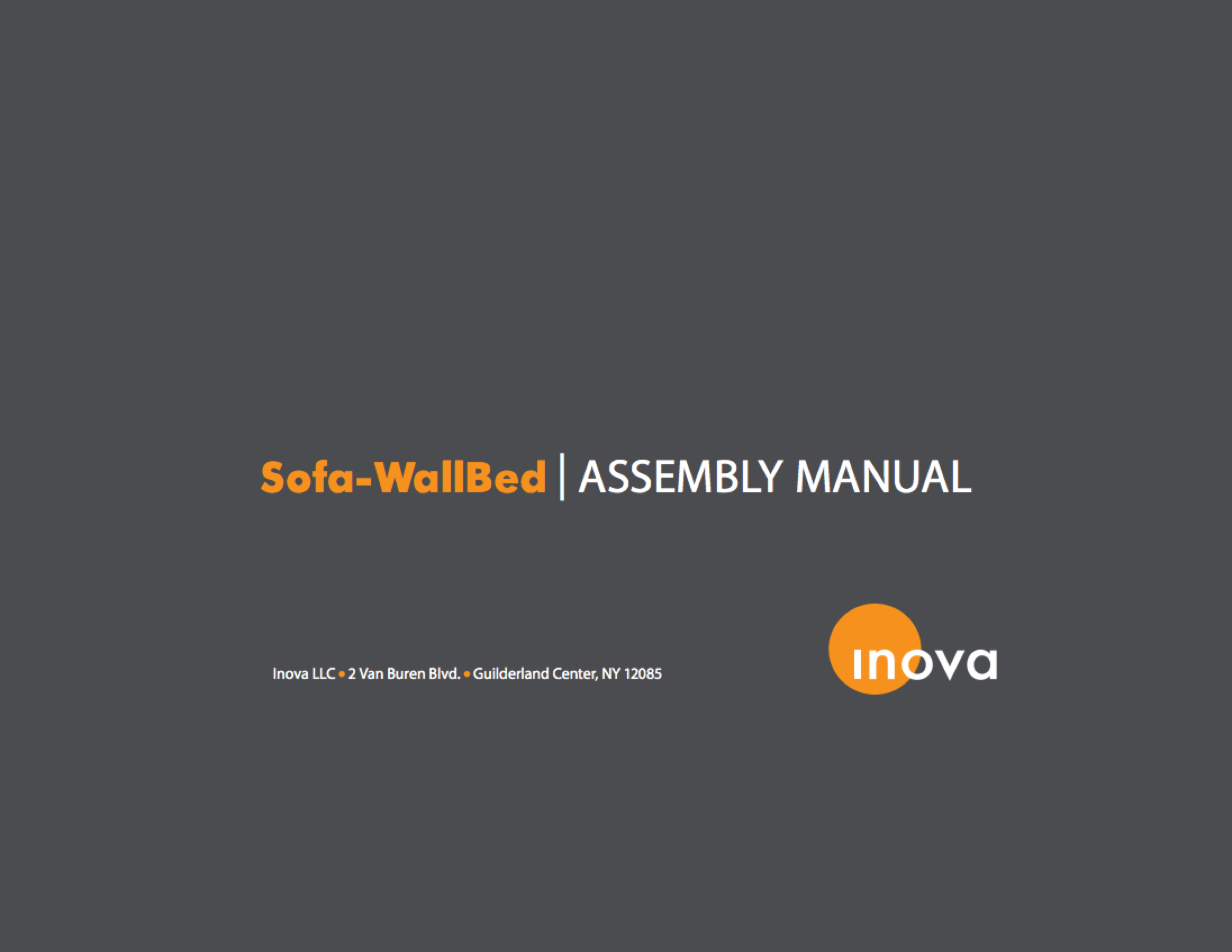 Sofa-WallBed Assembly Manual