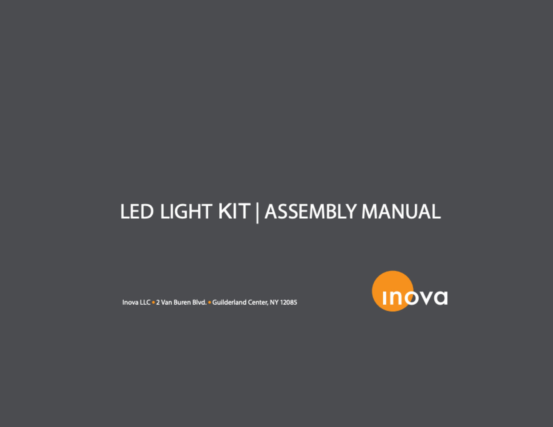 Inova LED Light Kit Assembly Manual