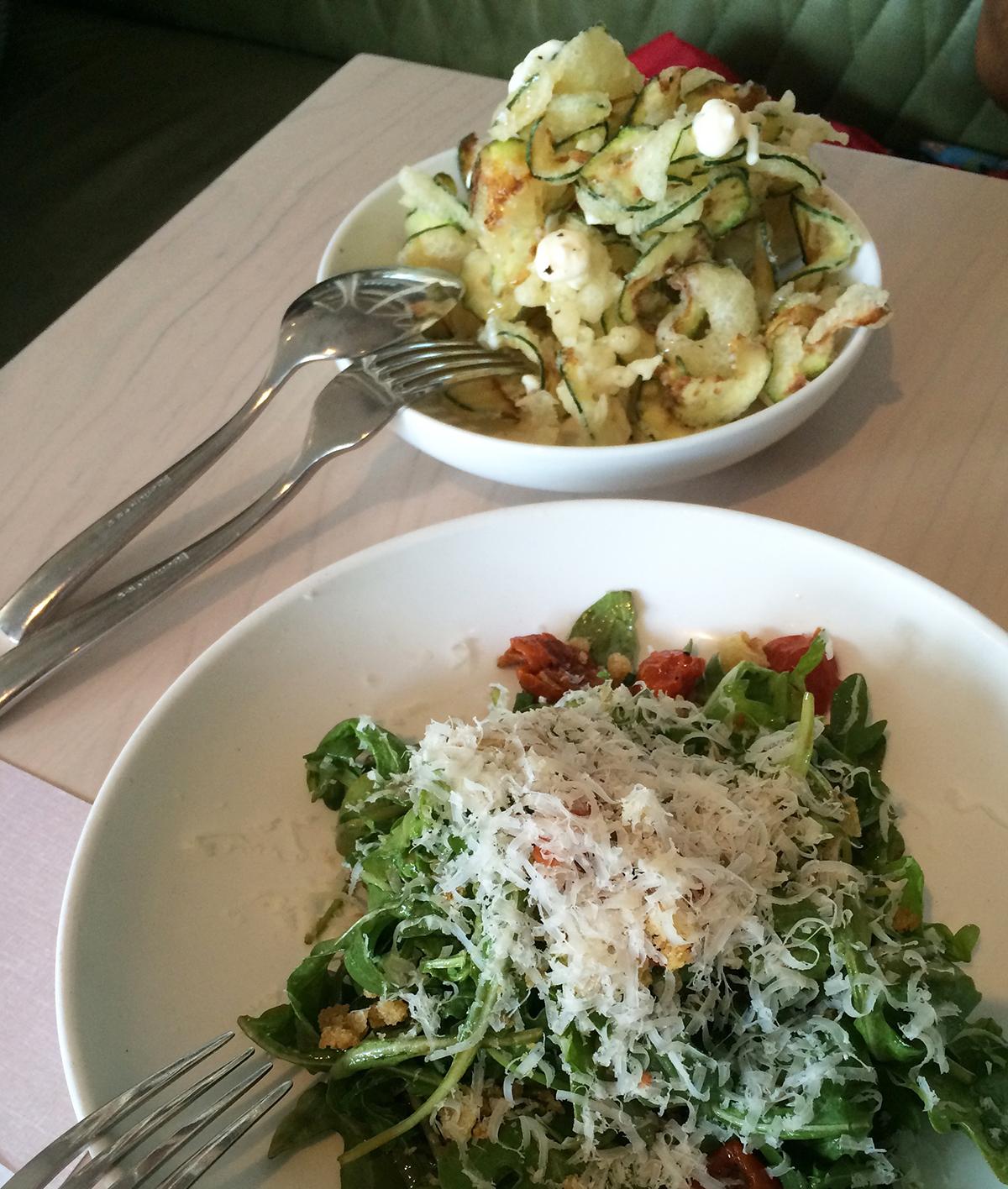 The Zucchini Fritti & Arugula Salad