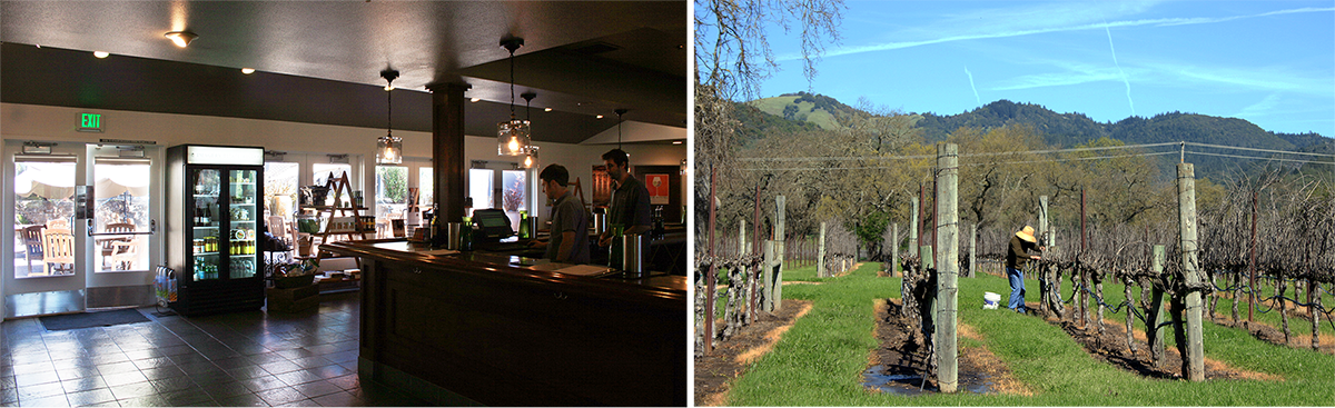 Imagery Estate Winery (left) Loxton (right)
