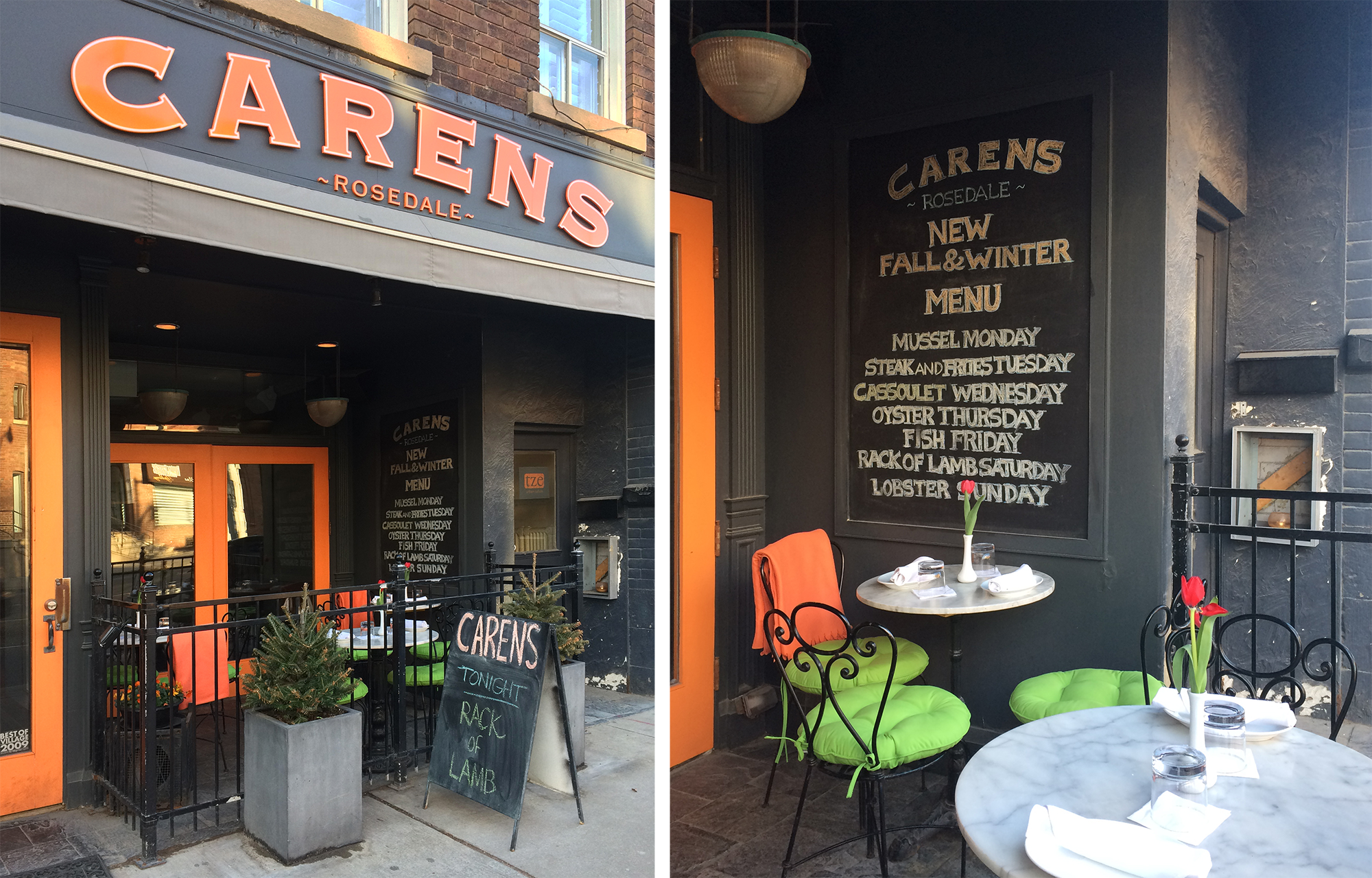 Carens Restaurant Facade