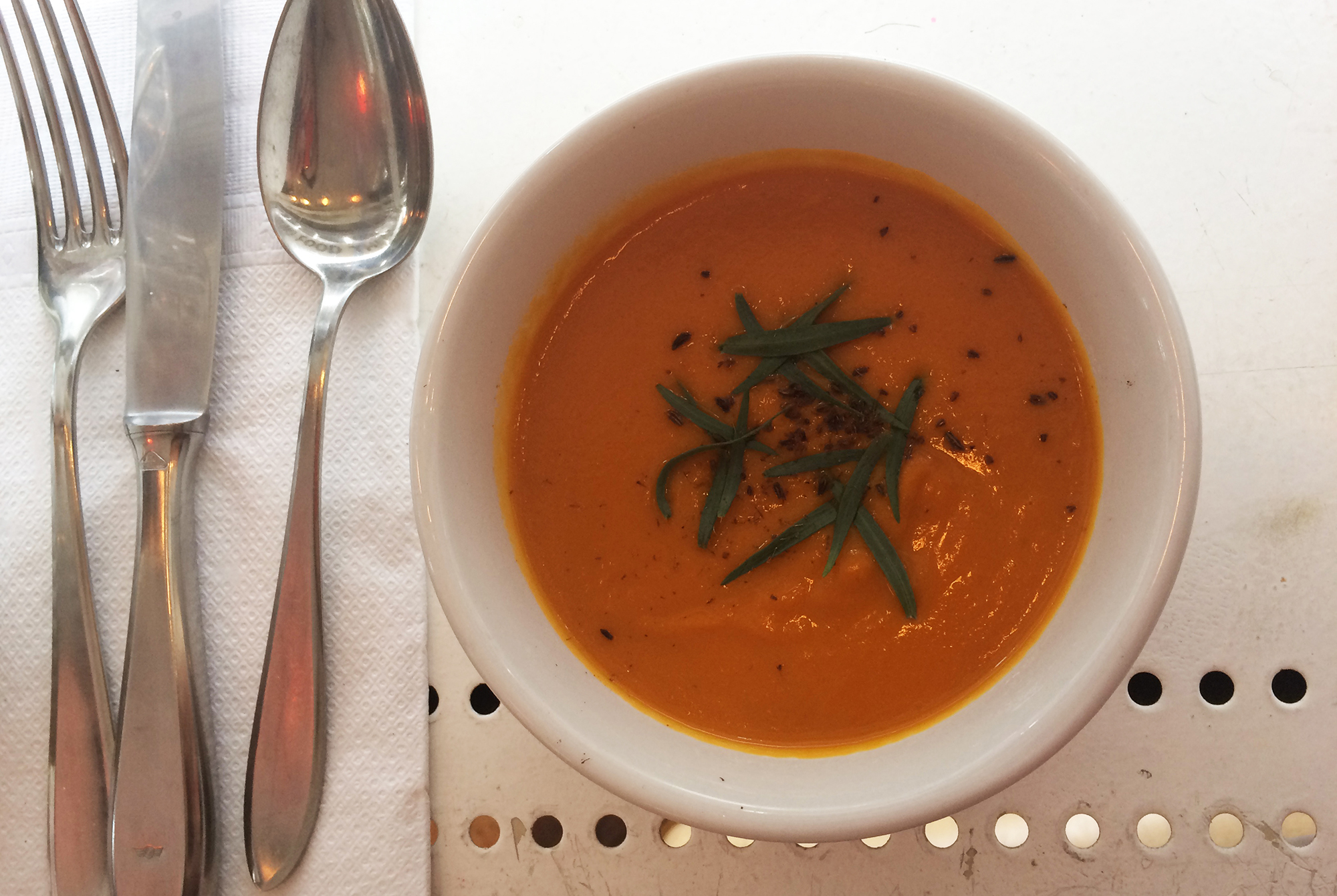 The Depanneur - Caramelized Carrot Cream Soup