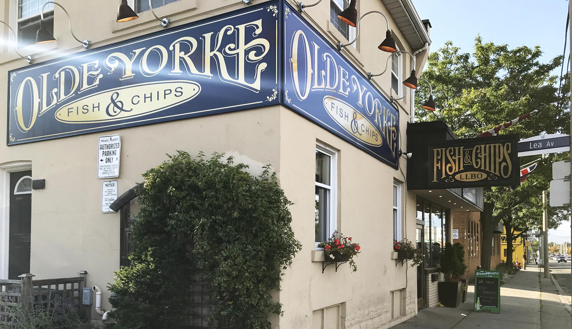 Olde Yorke Fish & Chips - Exterior Signage