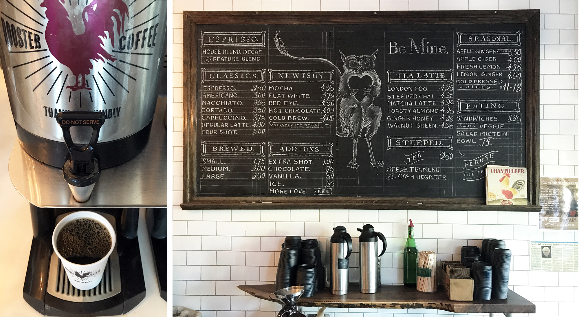 Rooster Coffee House - Illustrated Chalkboard