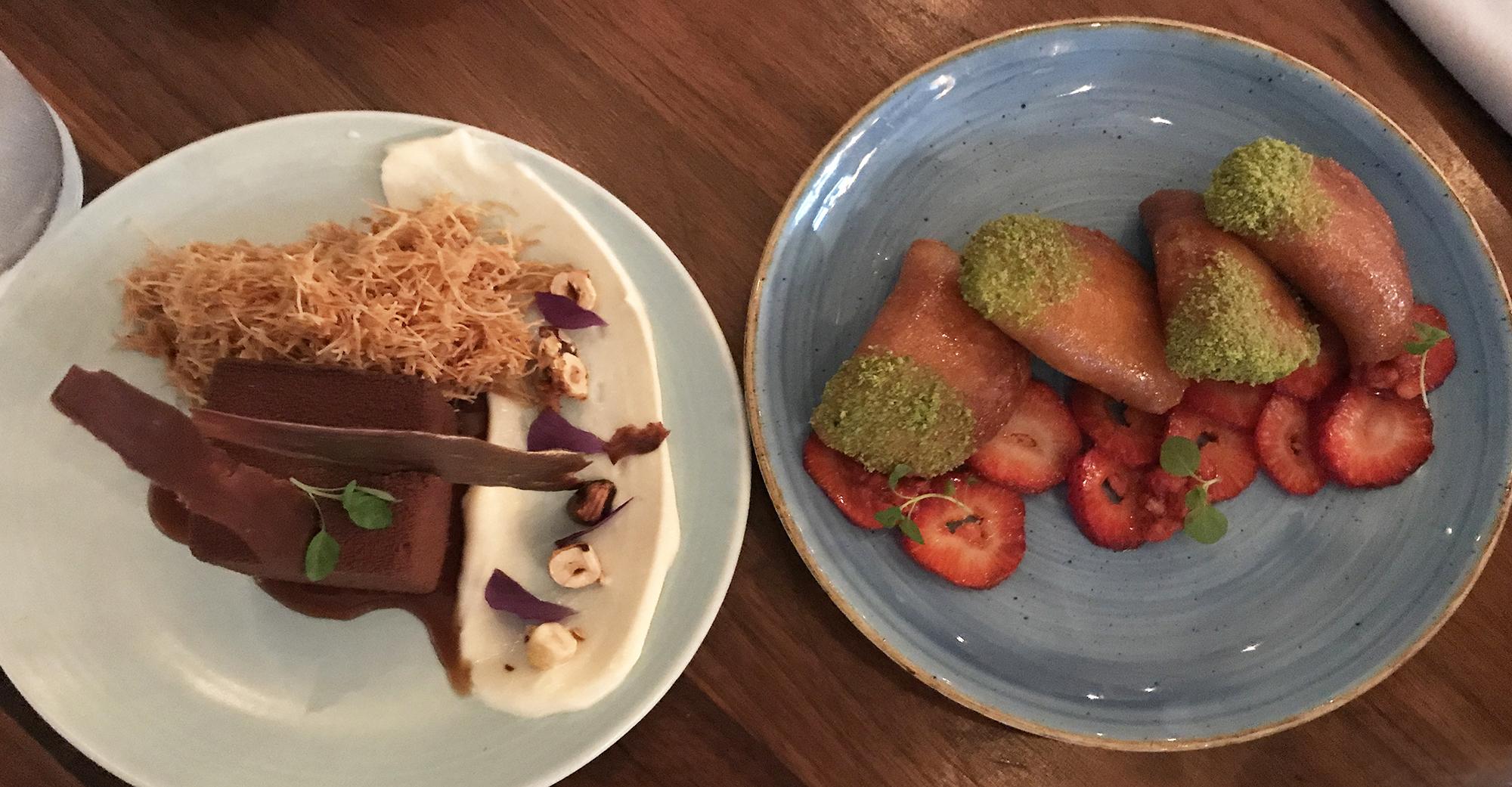 Byblos Hazelnut Chocolate Mousse and Crispy Qatayet