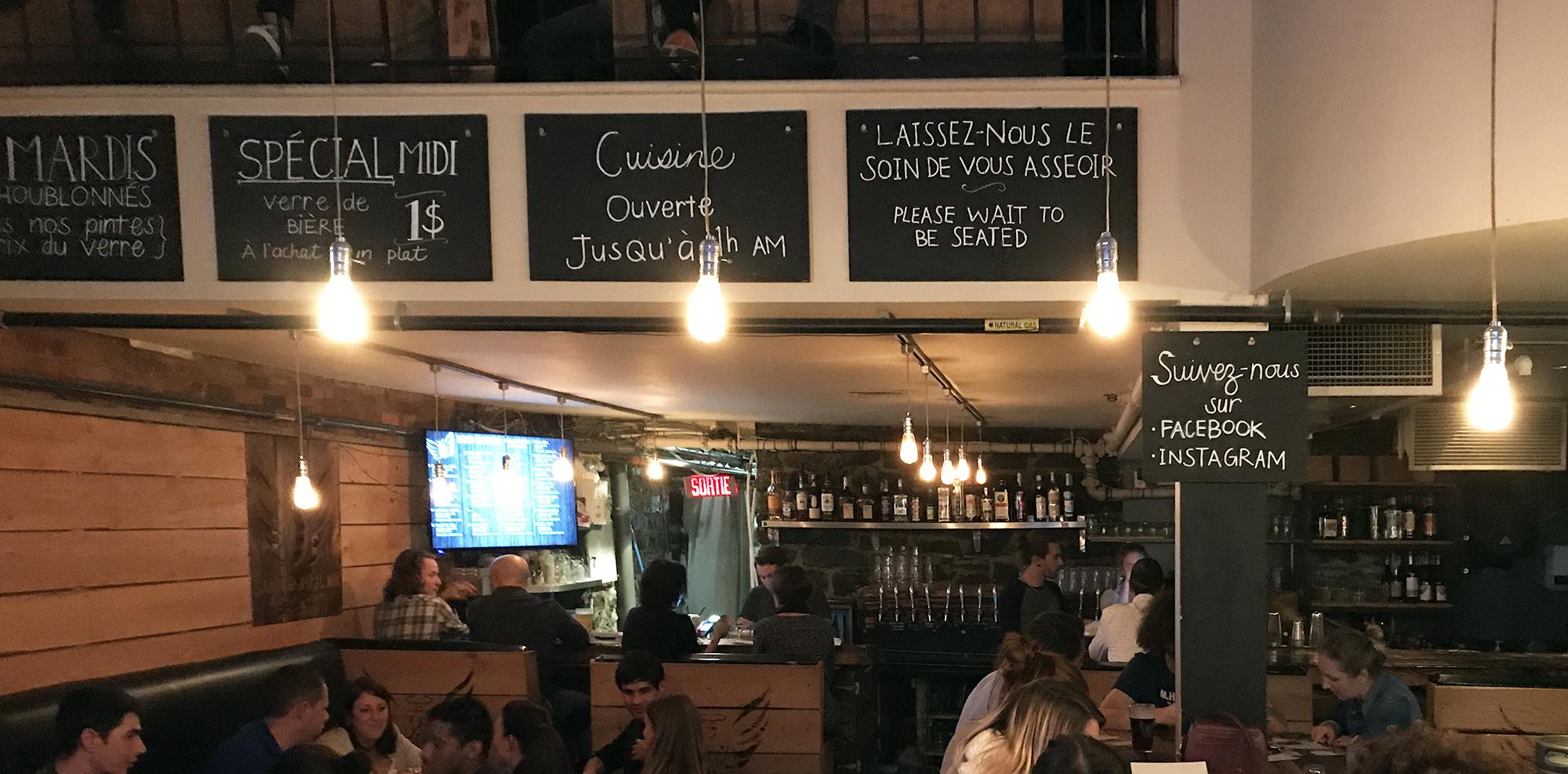 Saint-Houblon Brewhouse Bar - Interior Entry Mezzanine