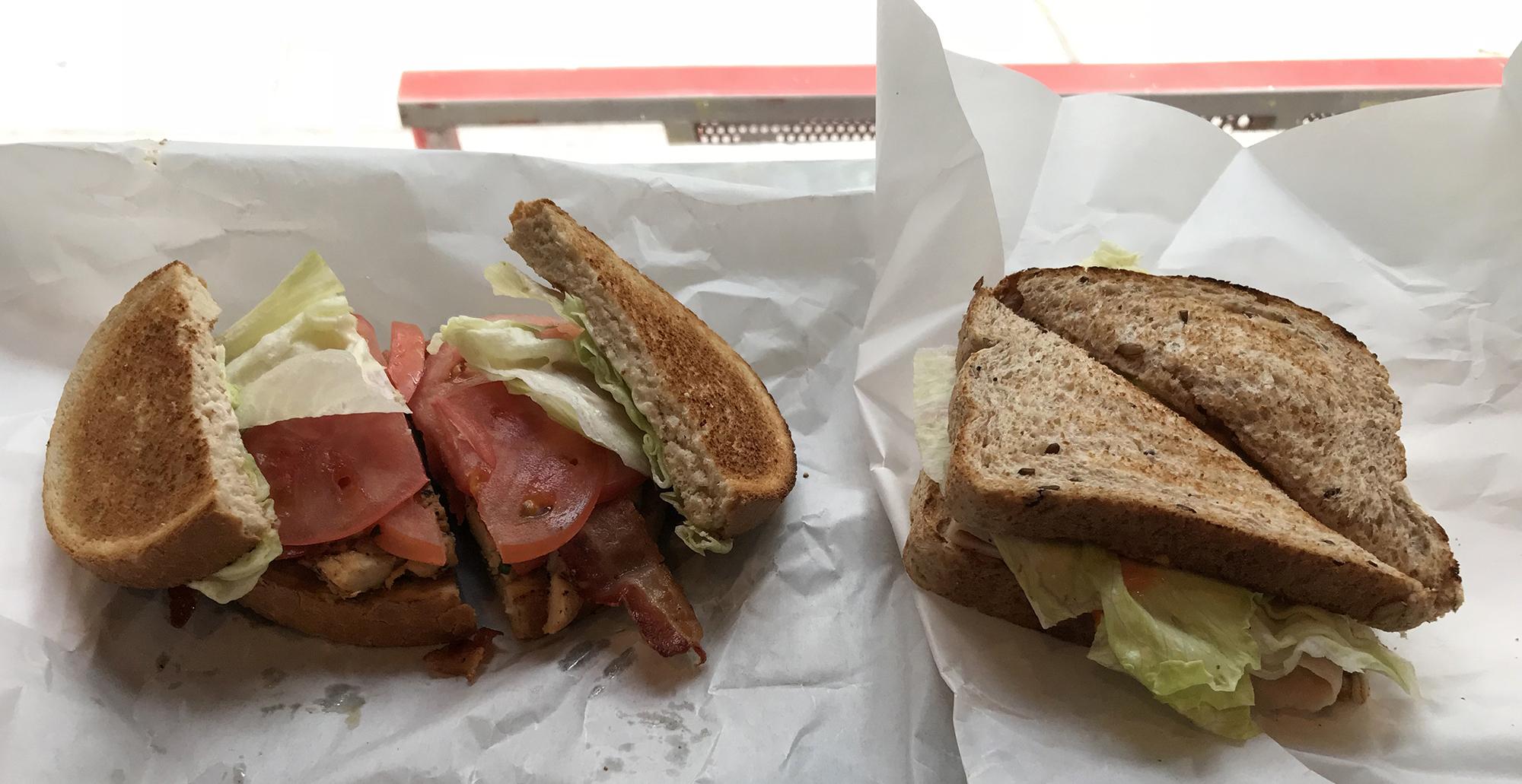 Shirley's First Break - sandwiches