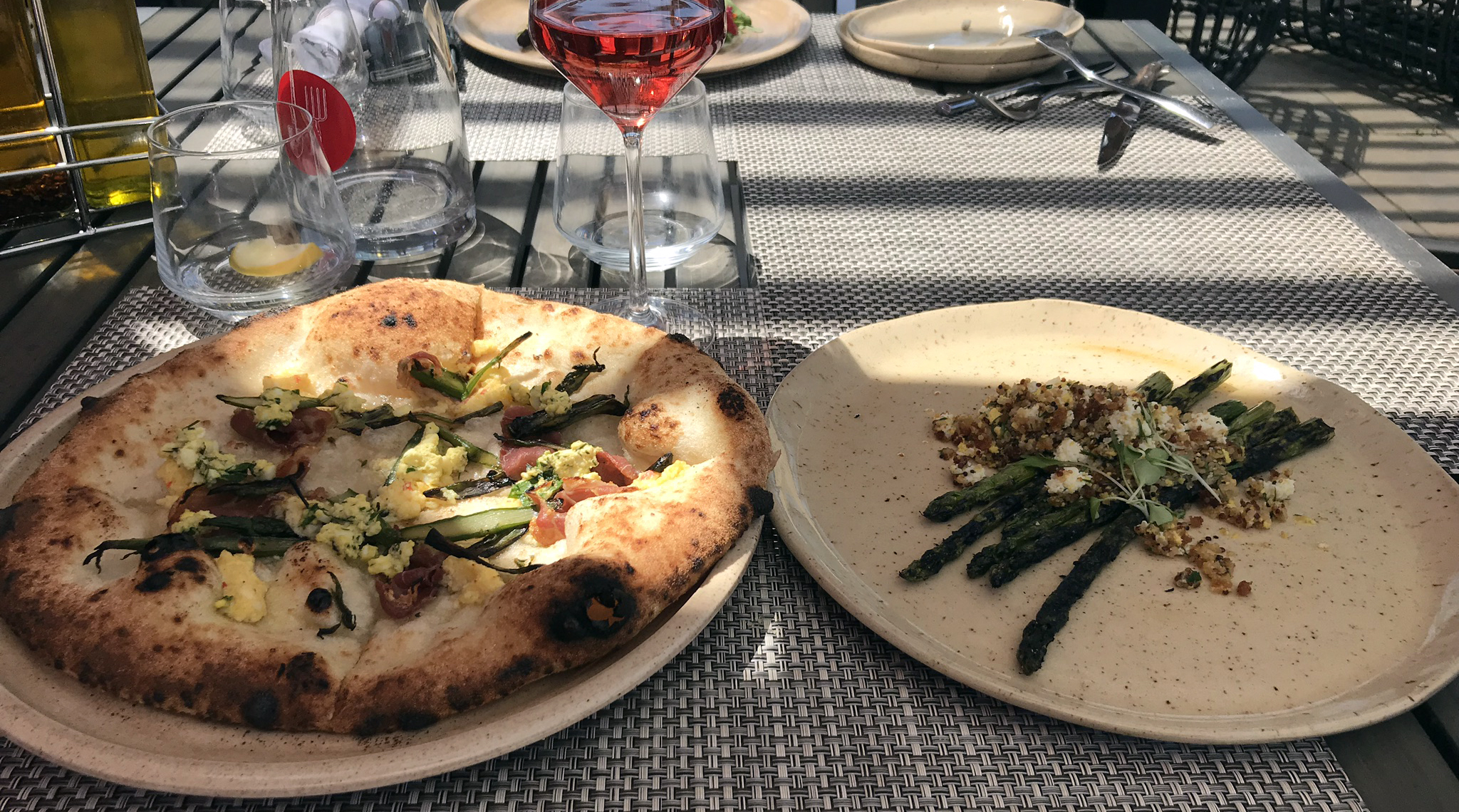 The Restaurant at RedStone - Pizza and asparagus