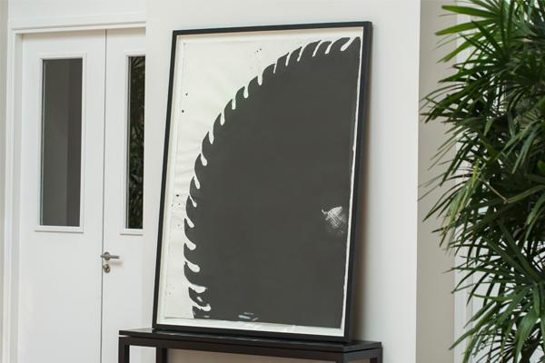 untitled black series by arman