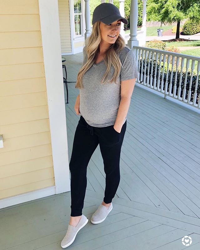 Basically my new weekend uniform with the comfiest slip on shoes I've ever worn! Perfect for this pregnant ladies tired feet 🙌🙌 This amazon tee is under $15 and better than some other name brand tees I used to live in! They are on the longer side and stretchy so they are super easy to knot in the front or on the side! Also they come in SO many different colors 😍  Shop your screenshot of this pic with the LIKEtoKNOW.it app http://liketk.it/2BtKo #liketkit @liketoknow.it #LTKbump #LTKshoecrush #LTKsalealert #LTKstyletip #LTKunder50 #maternitystyle #casualweekendstyle #casualstyle #comfyoutfit #bumpstyle #pregnancystyle #stylishpregnancy #weekendlook #mystyle #amazonfashion #momstyle #stylediaries #stylishbump