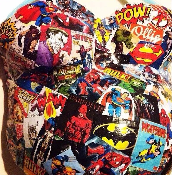 Superhero Belly Cast