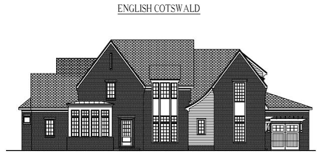 """ENGLISH COTSWALD: 5209 Sq/Ft    75"""" Wide/86.3"""" Deep"""