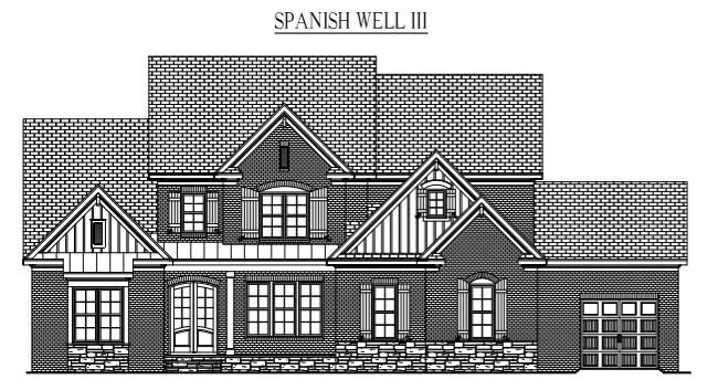 "SPANSIH WELLS III: 4117 Sq/Ft    70"" Wide/71"" Deep"