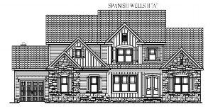 "SPANISH WELLS II: 3734 Sq/Ft    70"" Wide/56"" Deep"