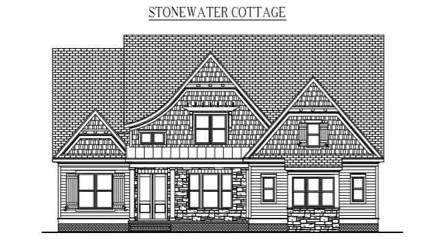 """STONEWATER COTTAGE: 3136 Sq/Ft    56"""" Wide/71"""" Deep"""