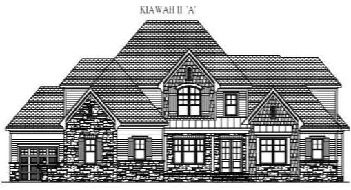 "KIAWAH II ""A"": 4552 Sq/Ft    80"" Wide/65"" Deep"